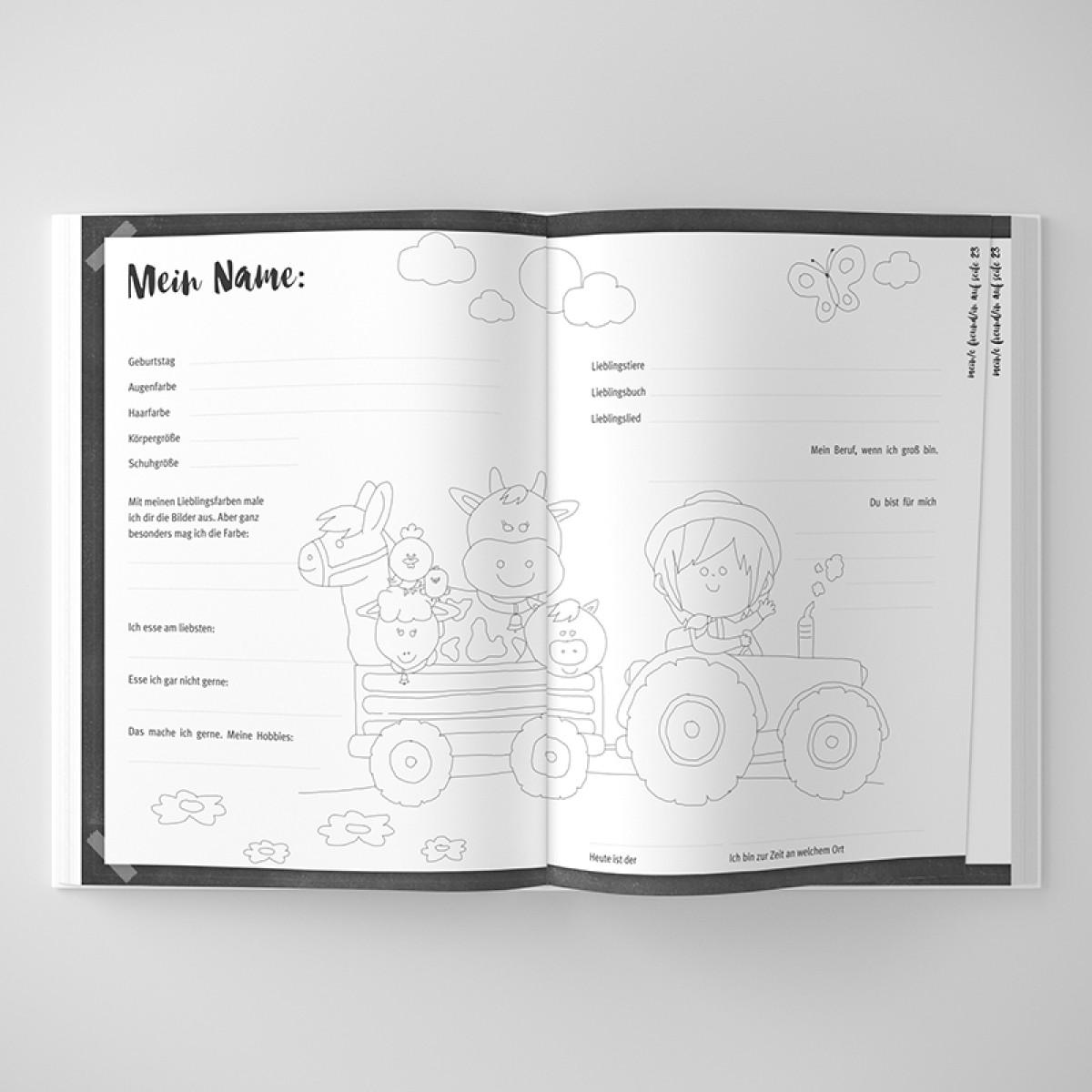 ACD DESIGN.BÜRO / Freundebuch für Kinder inkl. Baumwolltasche