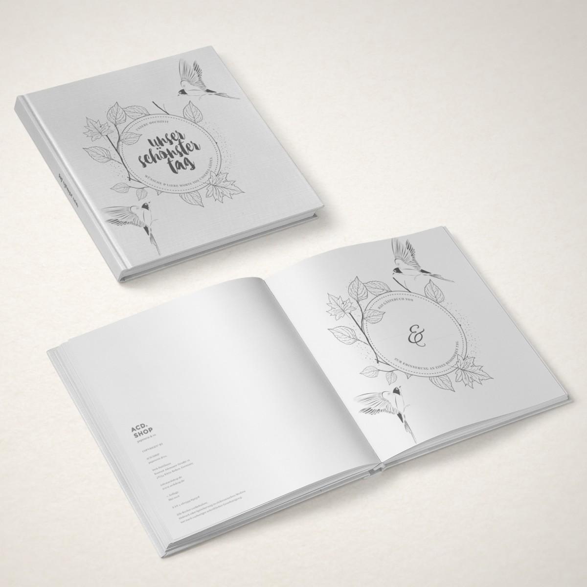 ACD DESIGN.BÜRO / Hochzeit-Gästebuch »Unser schönster Tag«