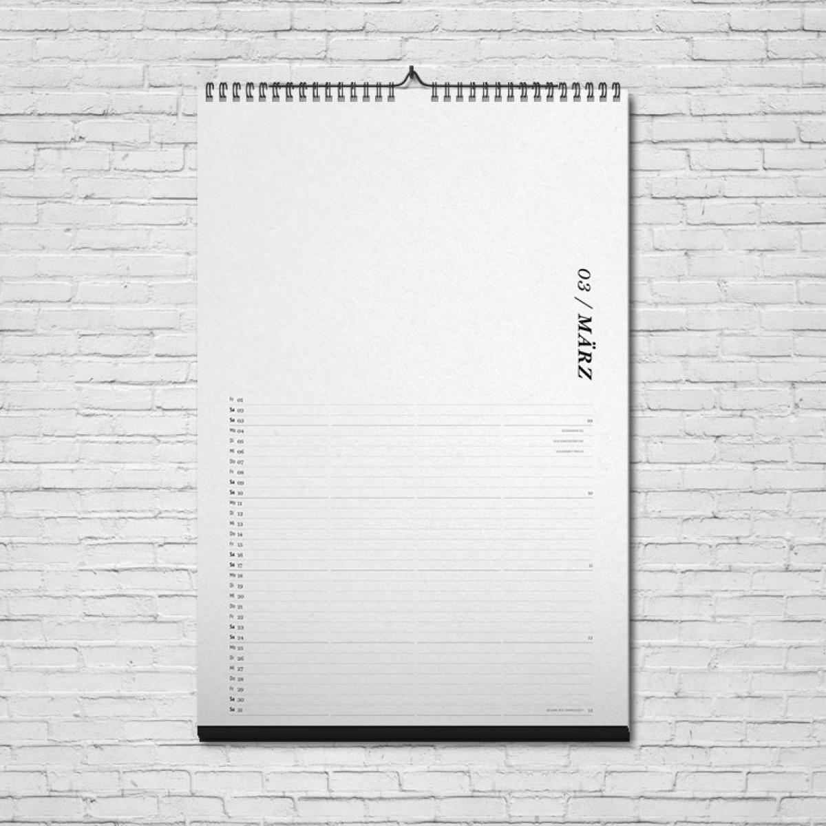 ACD DESIGN.BÜRO / Wandkalender Familienkalender Bastelkalender 2020 // DIN A3