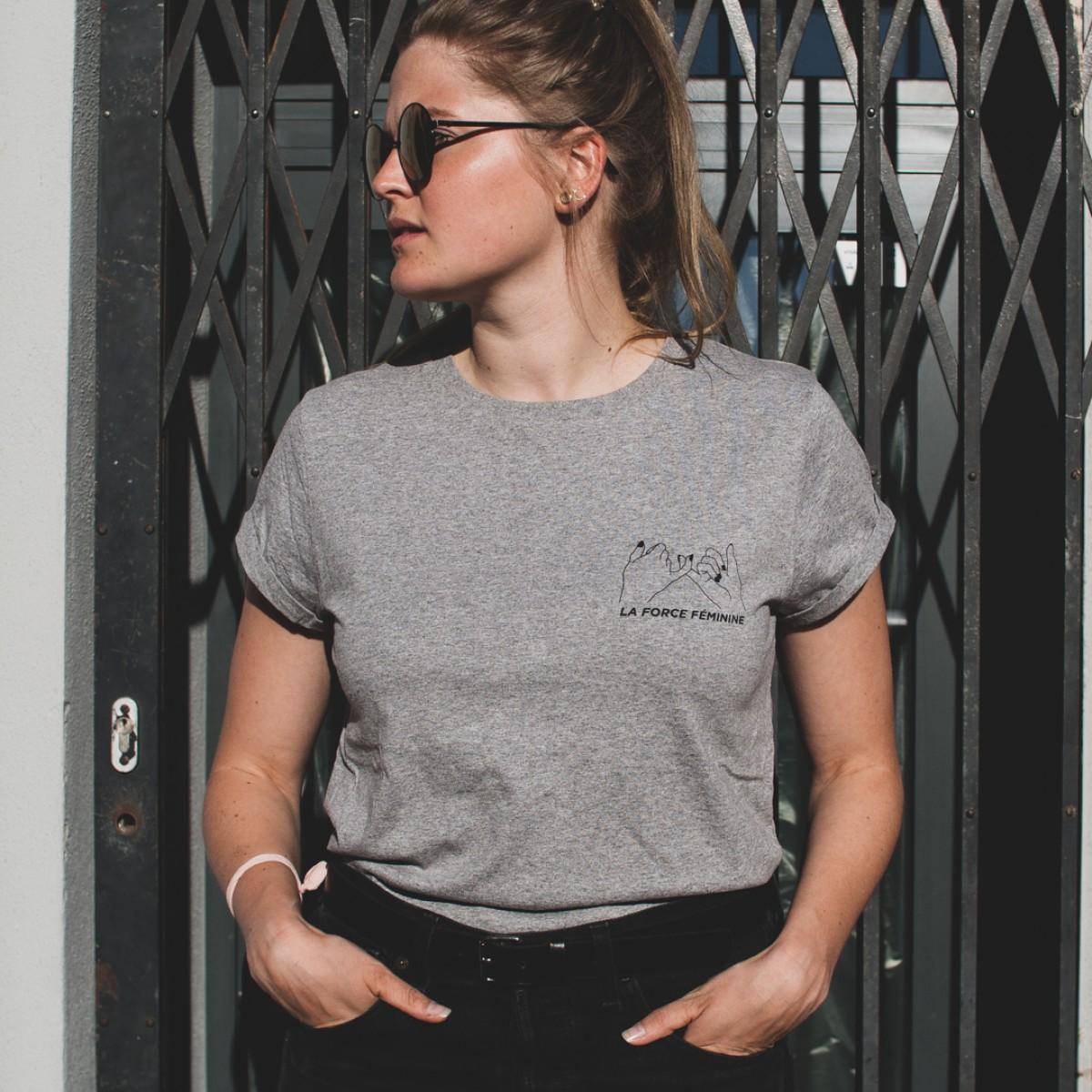 ÄSTHETIKA T-Shirt Roll Up - LA FORCE FÉMININE grey/black