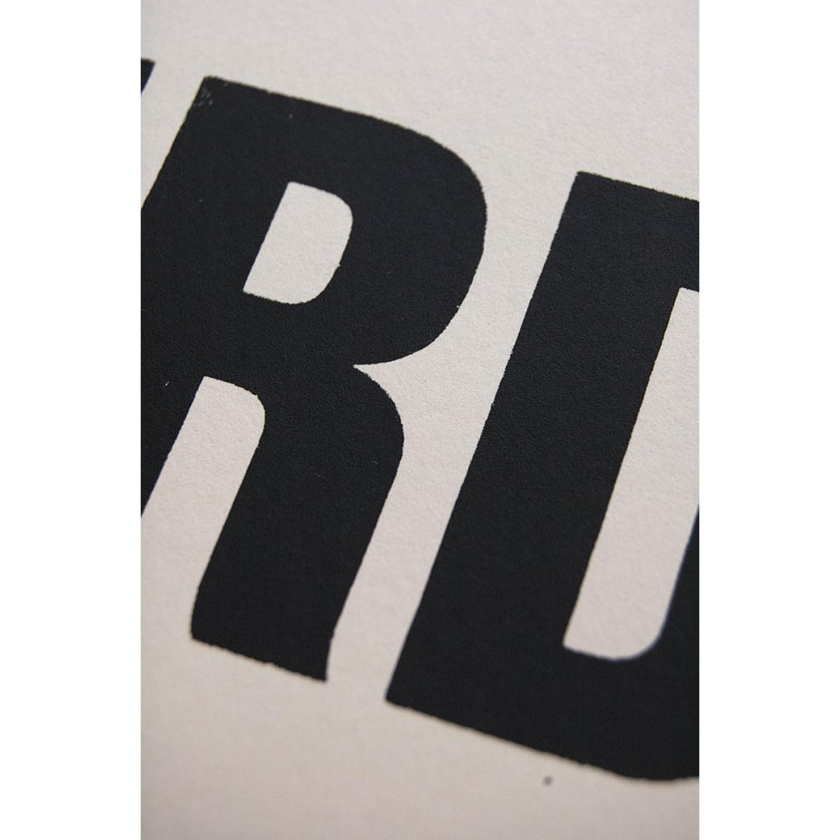 Buchstabenort Amsterdam Stadtteile-Poster Typografie