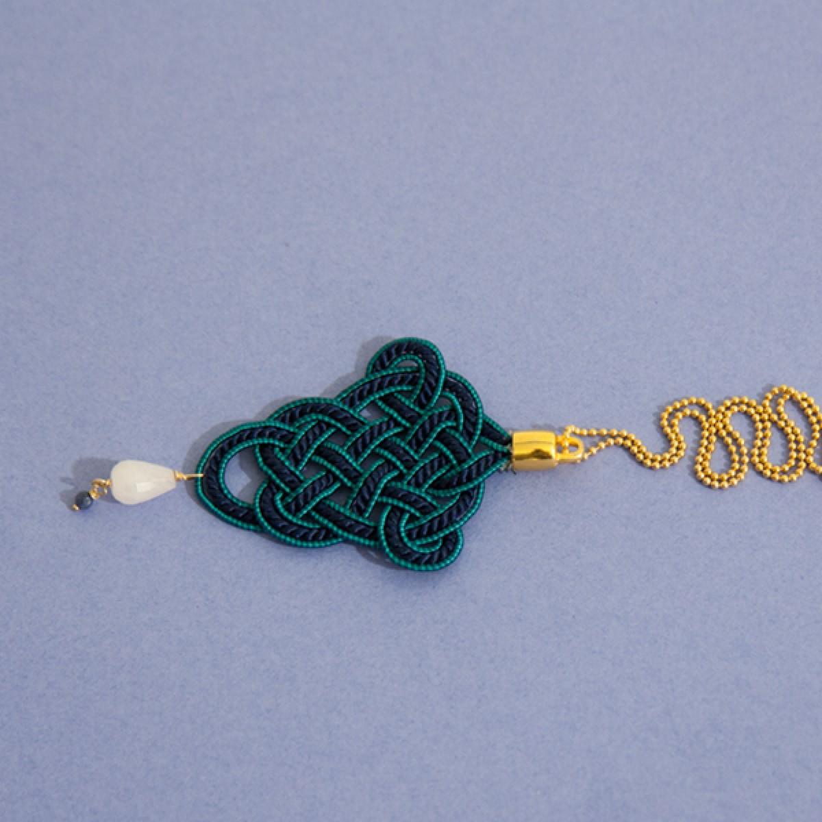 Irmeline - Accessoires Manufaktur »Posamente« Kette in blau & turkies