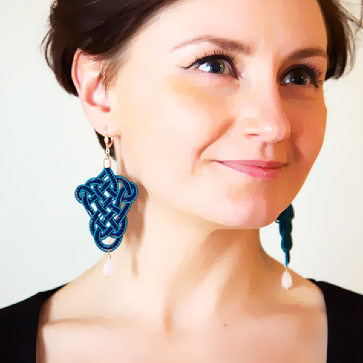 »Posamente« Ohrringe blau & turkis