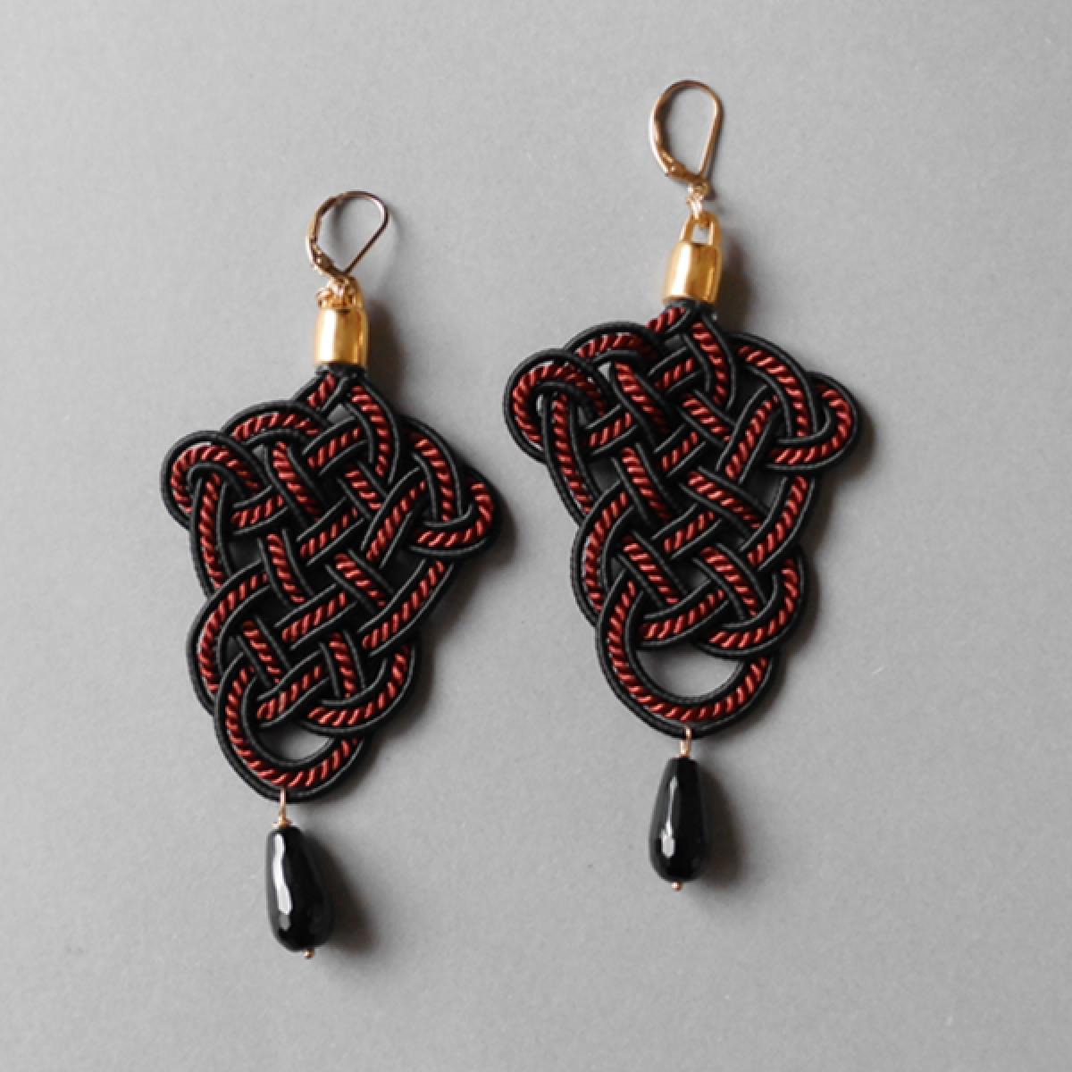 »Posamente« Ohrringe in rot & schwarz
