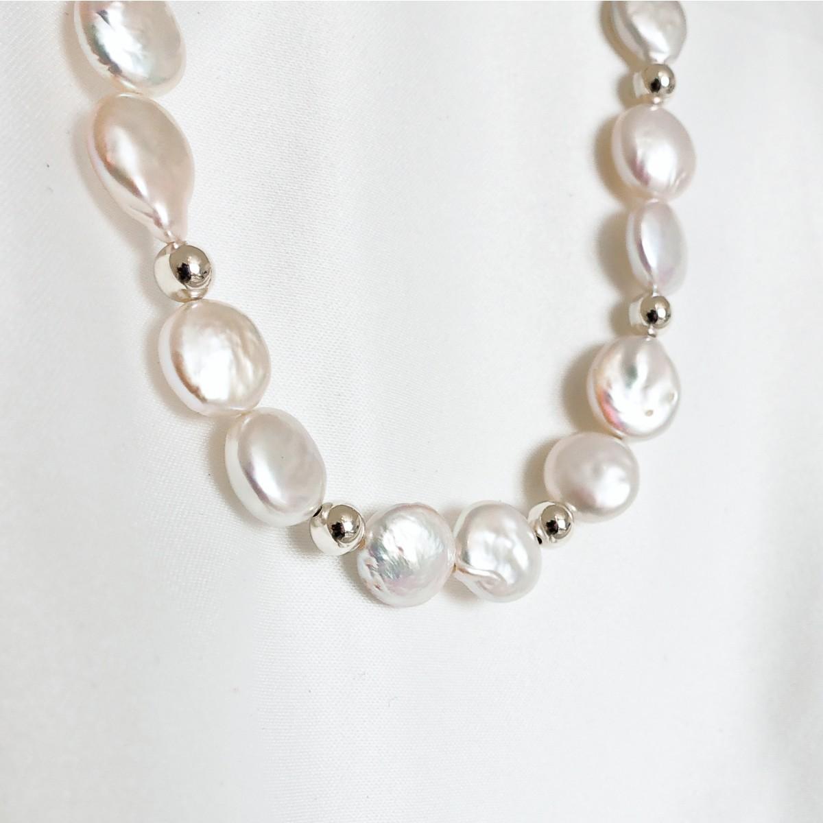 ST'ATOUR AURORA – Choker mit Perlen in Gold, Silber oder Roségold