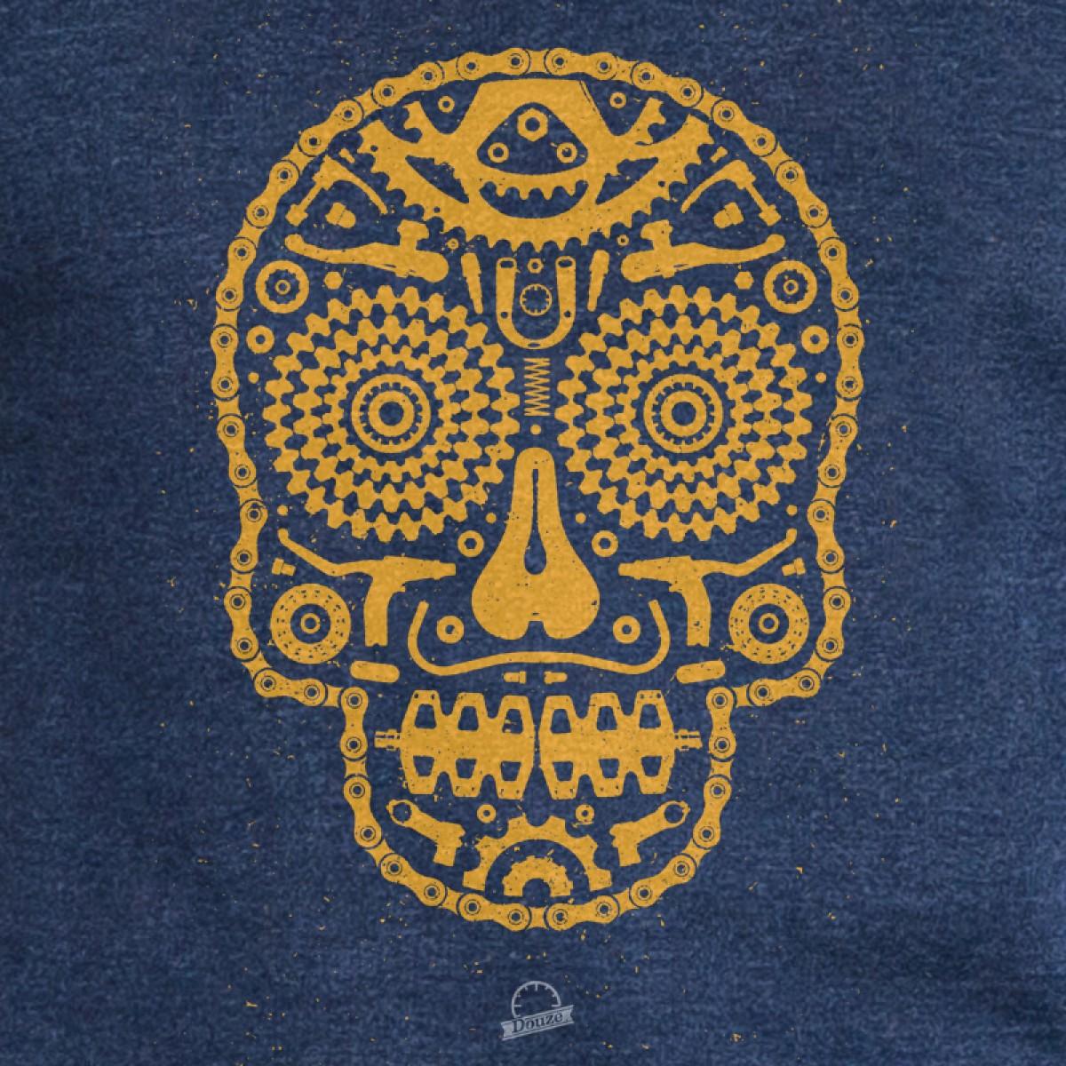 Douze - Bike Skull - Mens Recycled Organic T-Shirt