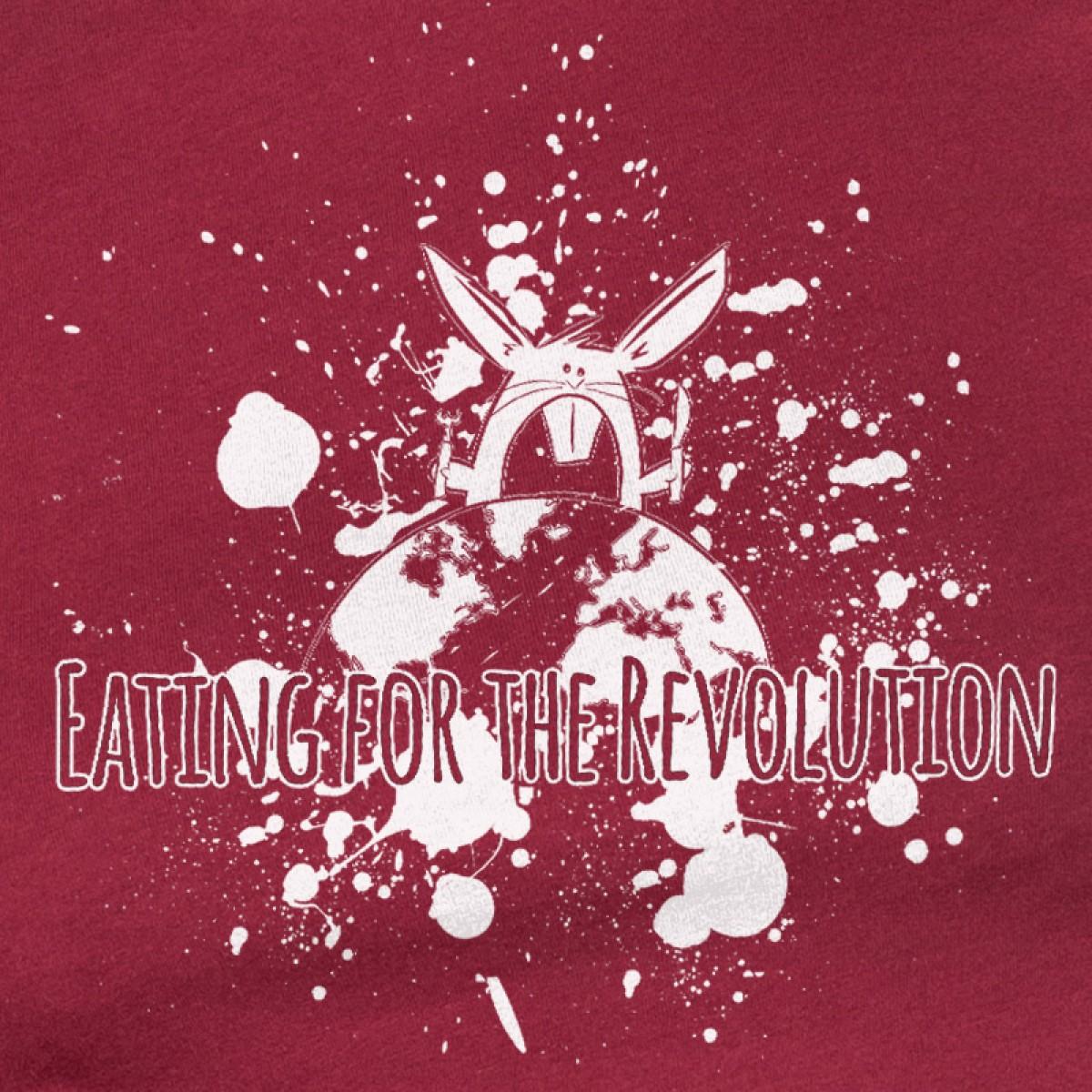 Rabbit Revolution – Eating for - Ladies Organic Cotton T-Shirt