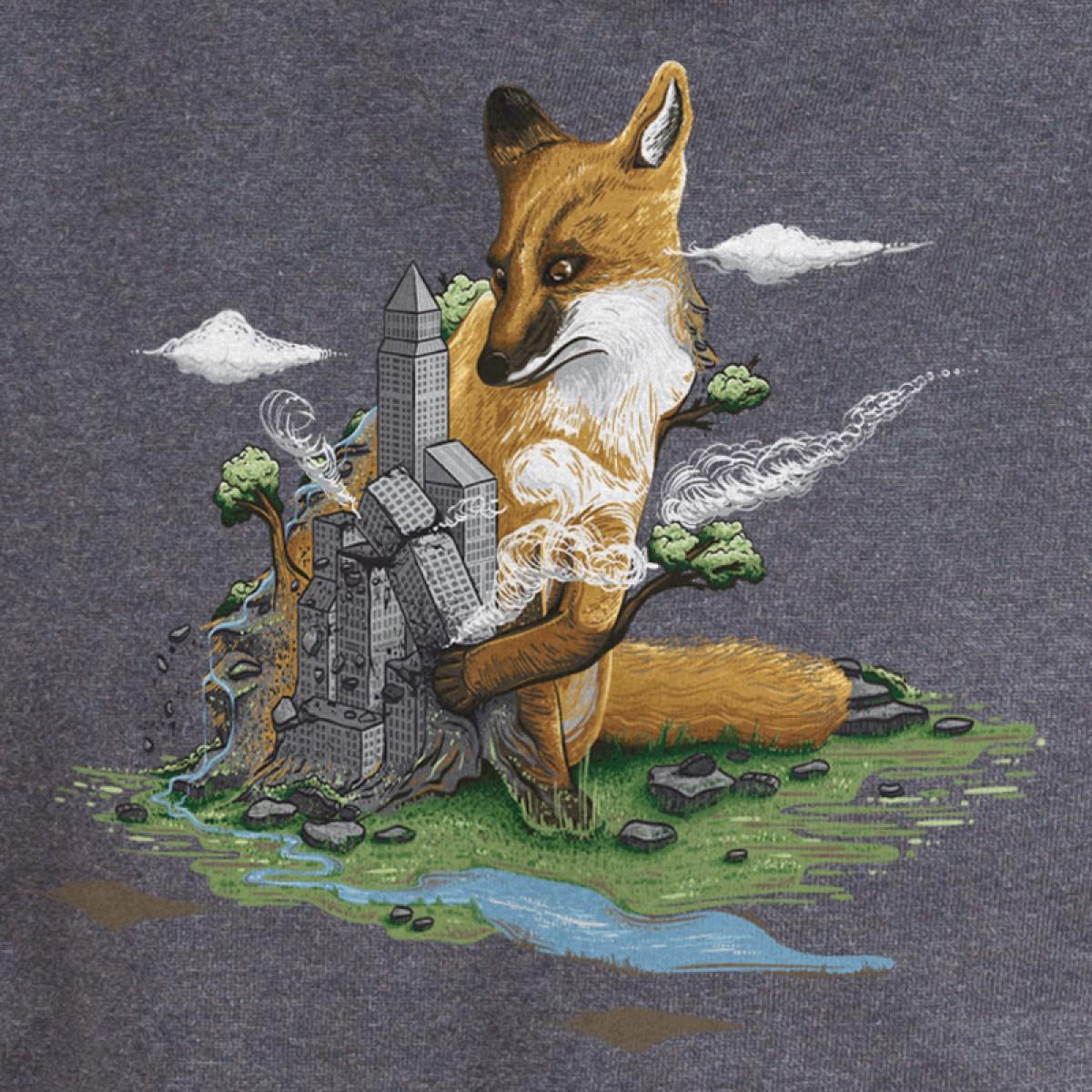 Robert Richter – Clean the World - Fox - Organic Cotton Unisex Hoodie