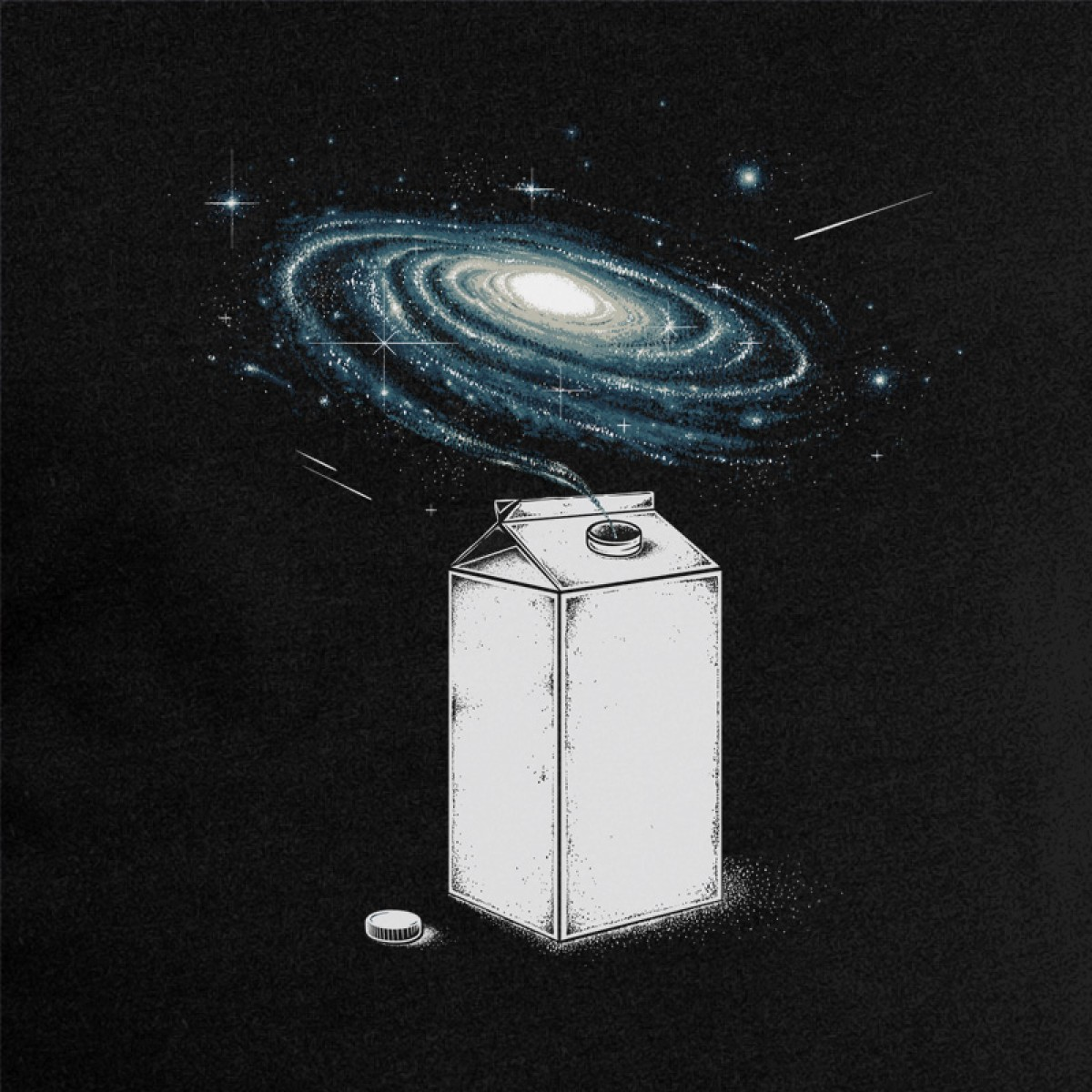 Robert Richter – Milky Galaxy - Organic Cotton Unisex Hoodie