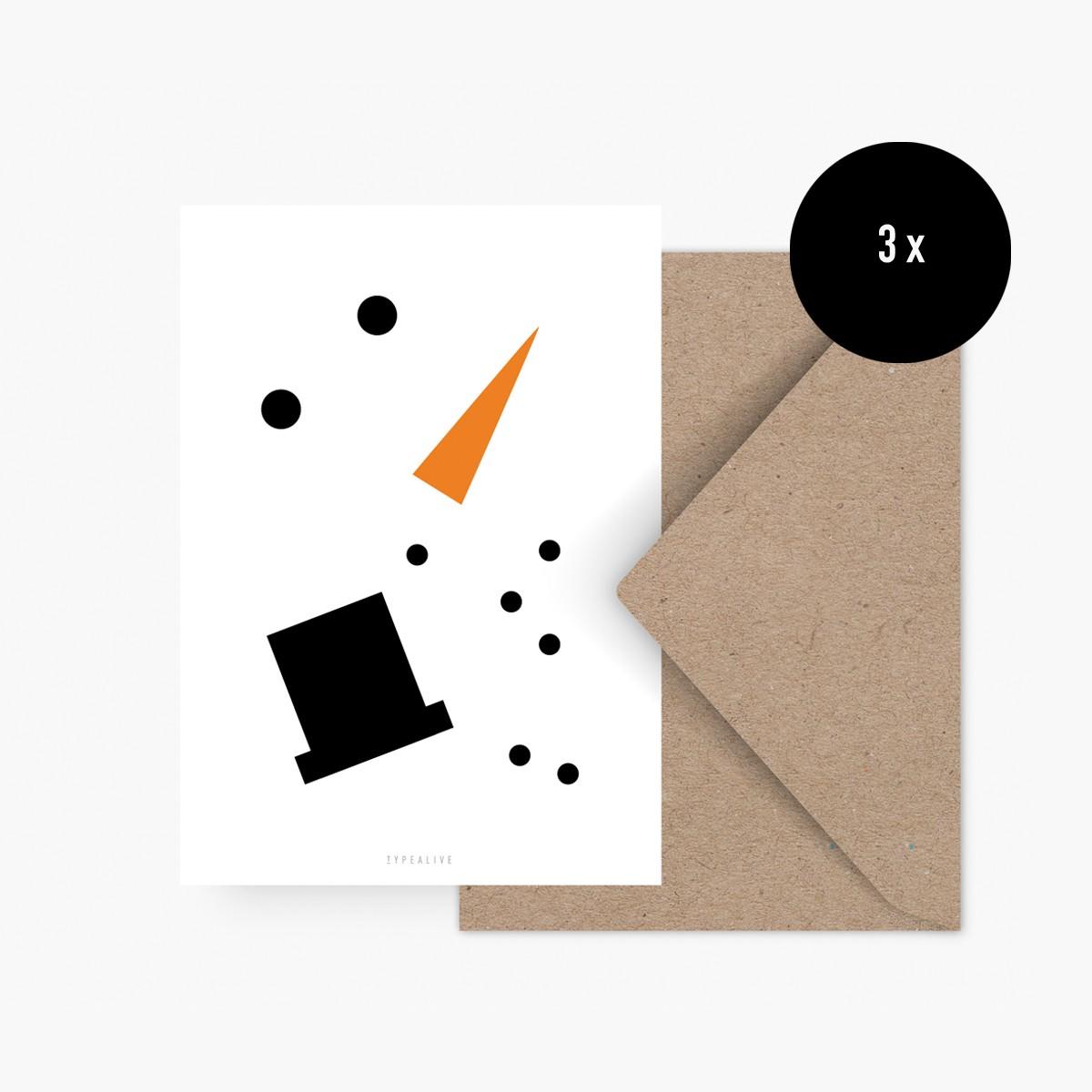 Weihnachtskarten-Set Abstract Christmas