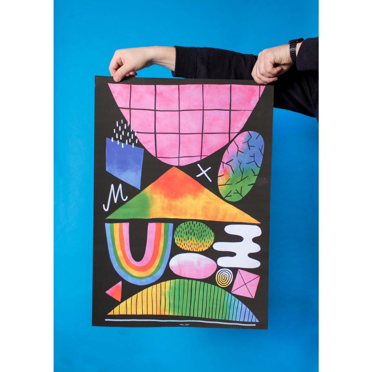 Martin Krusche - Poster »Abstrakt Nr.1« 50x70cm