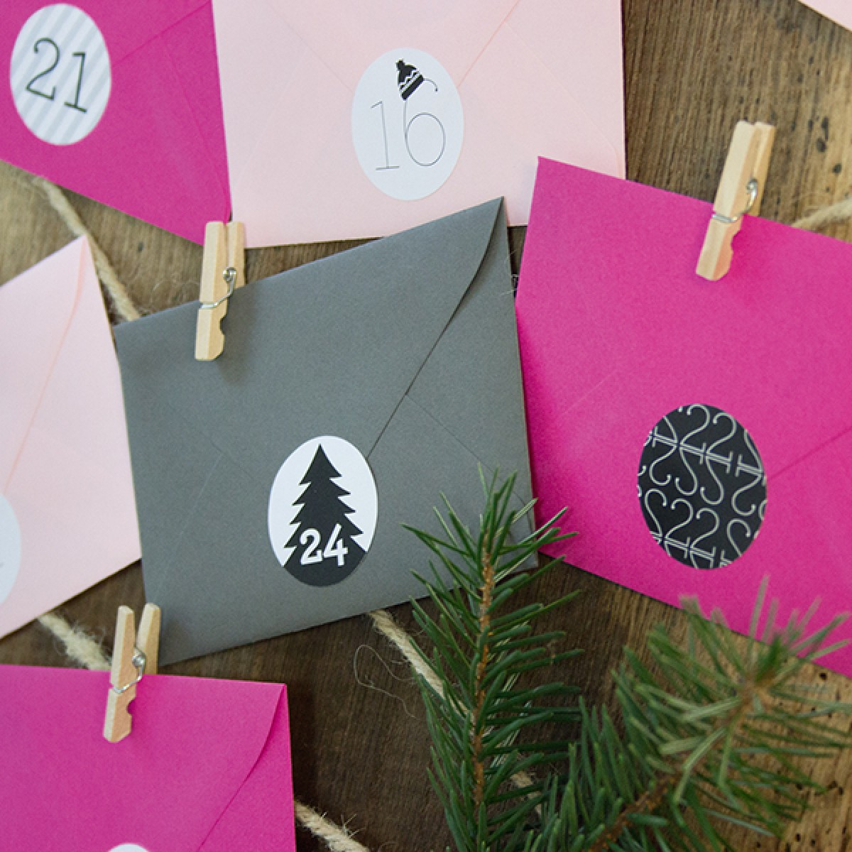 Adventskalender Pink/Graphit