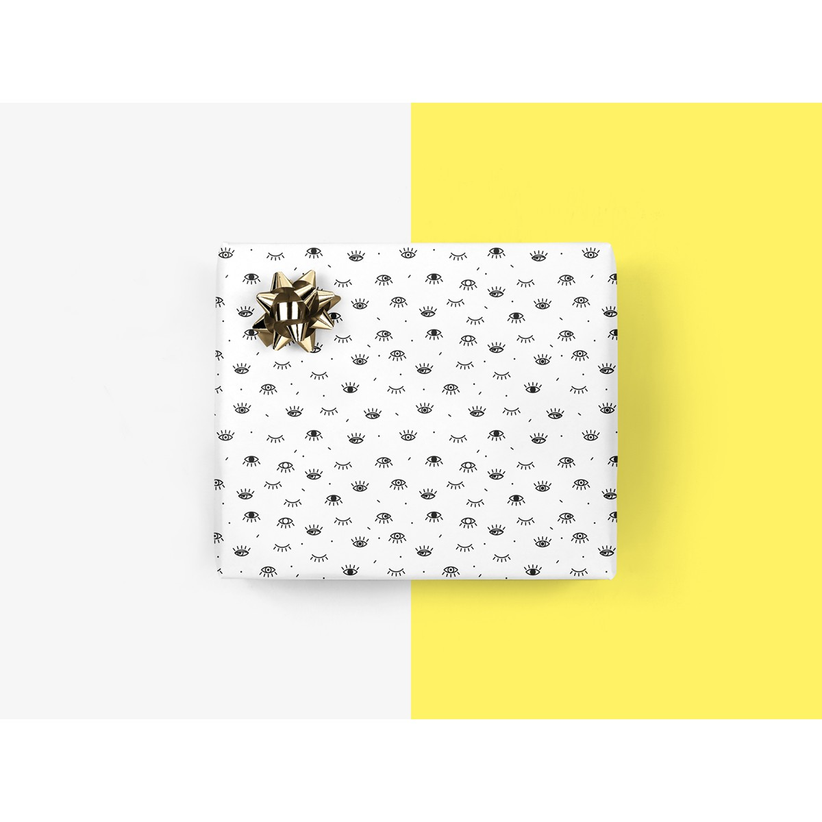 5x Geschenkpapier / All Eyes On (gefaltet)