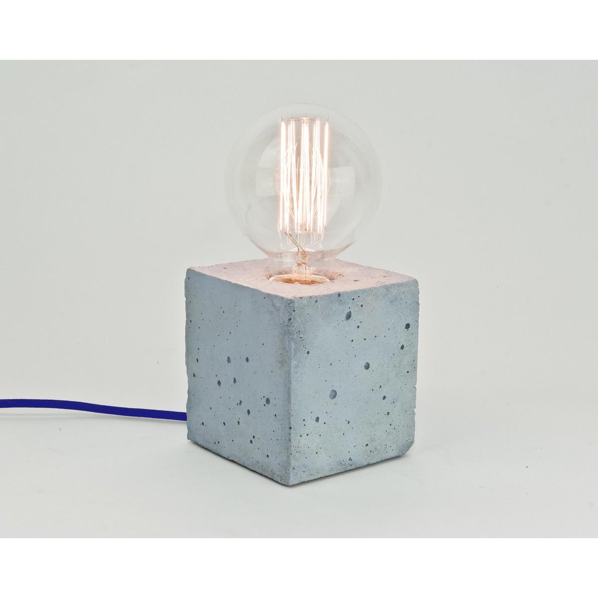lj lamps alpha coloured blau tischleuchte aus beton mit. Black Bedroom Furniture Sets. Home Design Ideas