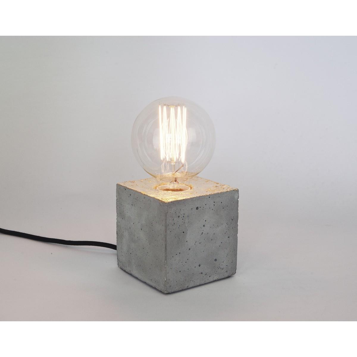lj lamps alpha gold vergoldete tischleuchte aus beton. Black Bedroom Furniture Sets. Home Design Ideas