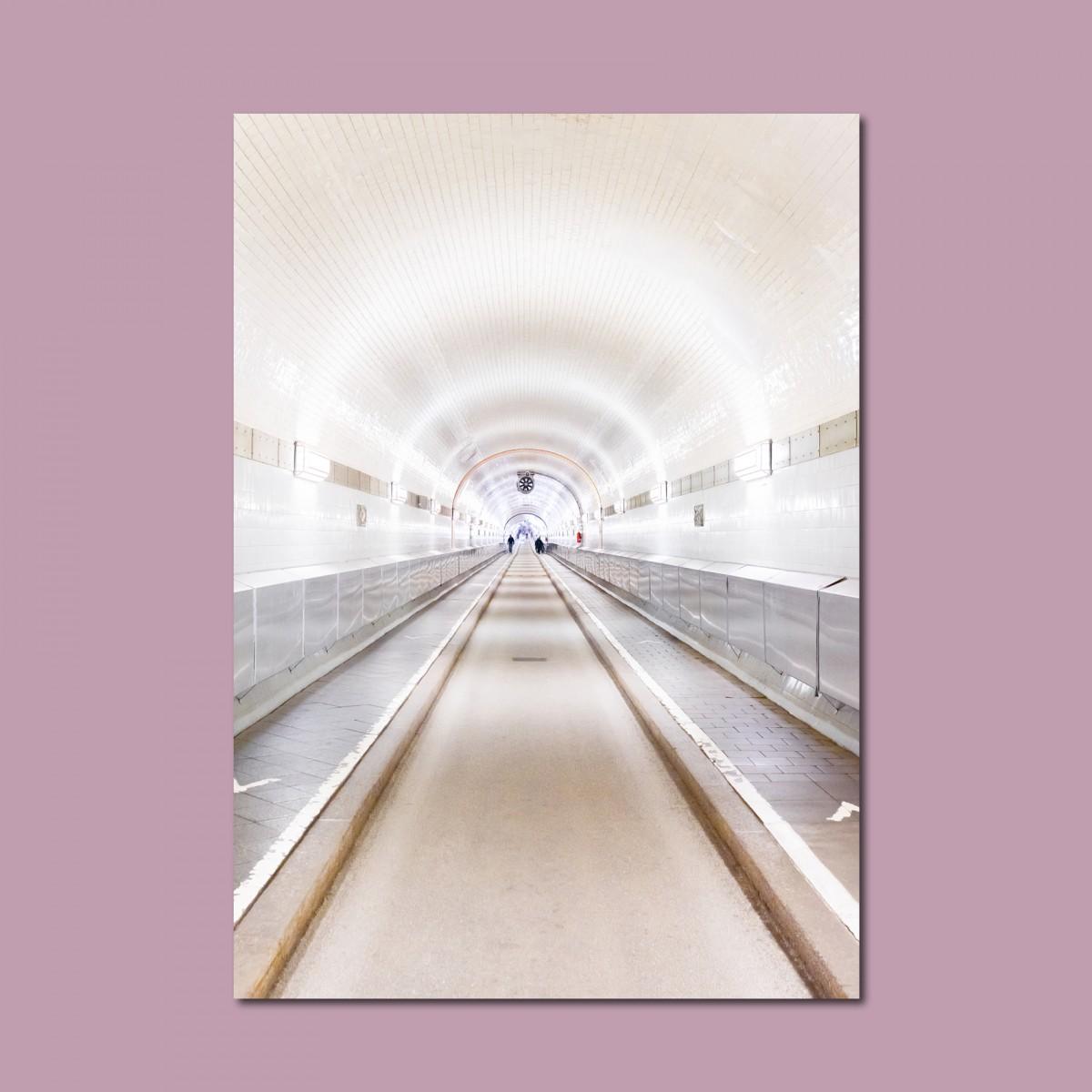 'Alter Elbtunnel' limitierter Fotodruck auf Naturpapier, DIN A2, klimaneutral gedruckt / Ankerwechsel Verlag