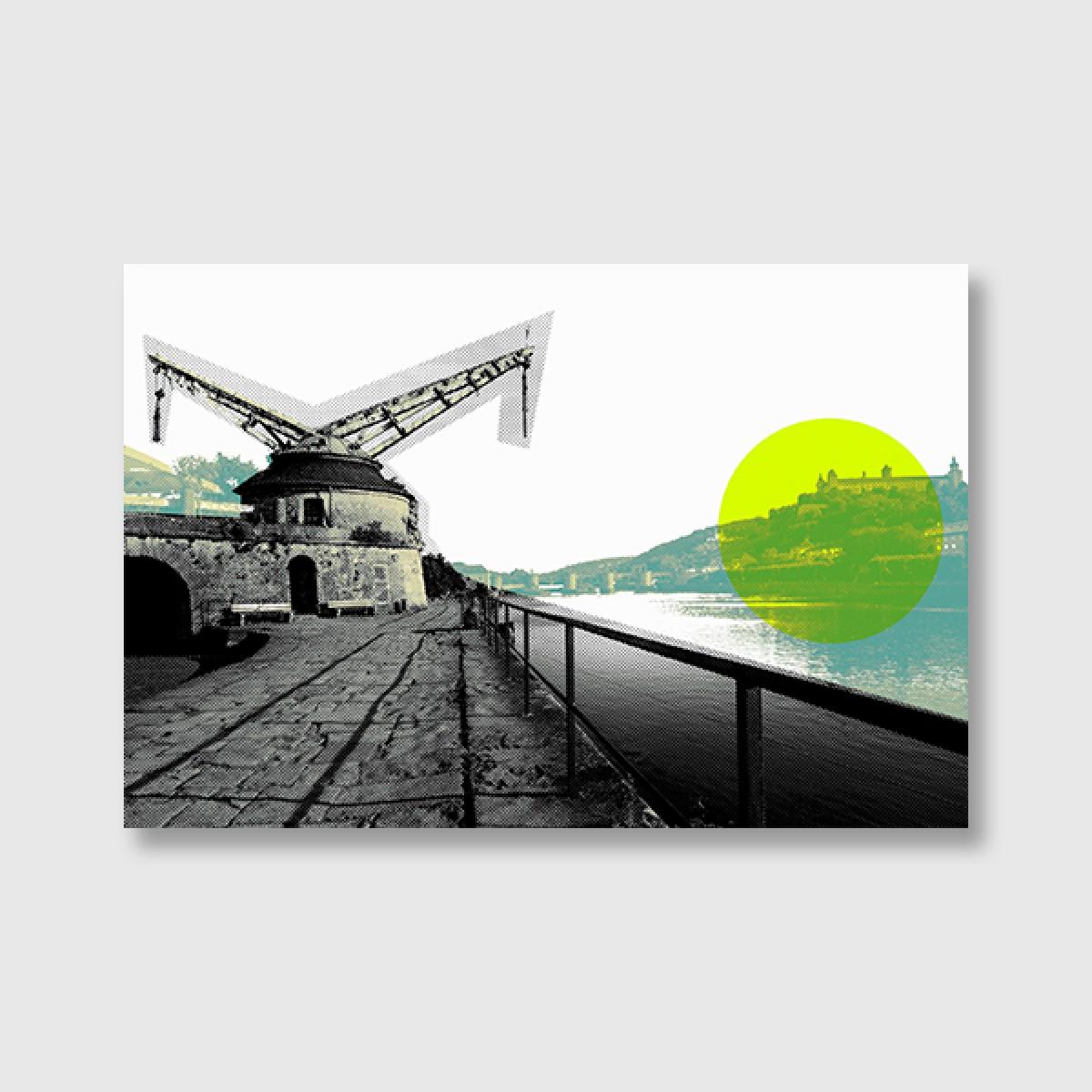 """ZEITLOOPS """"Alter Kranen, Würzburg"""", Posterprint 40x60 cm"""