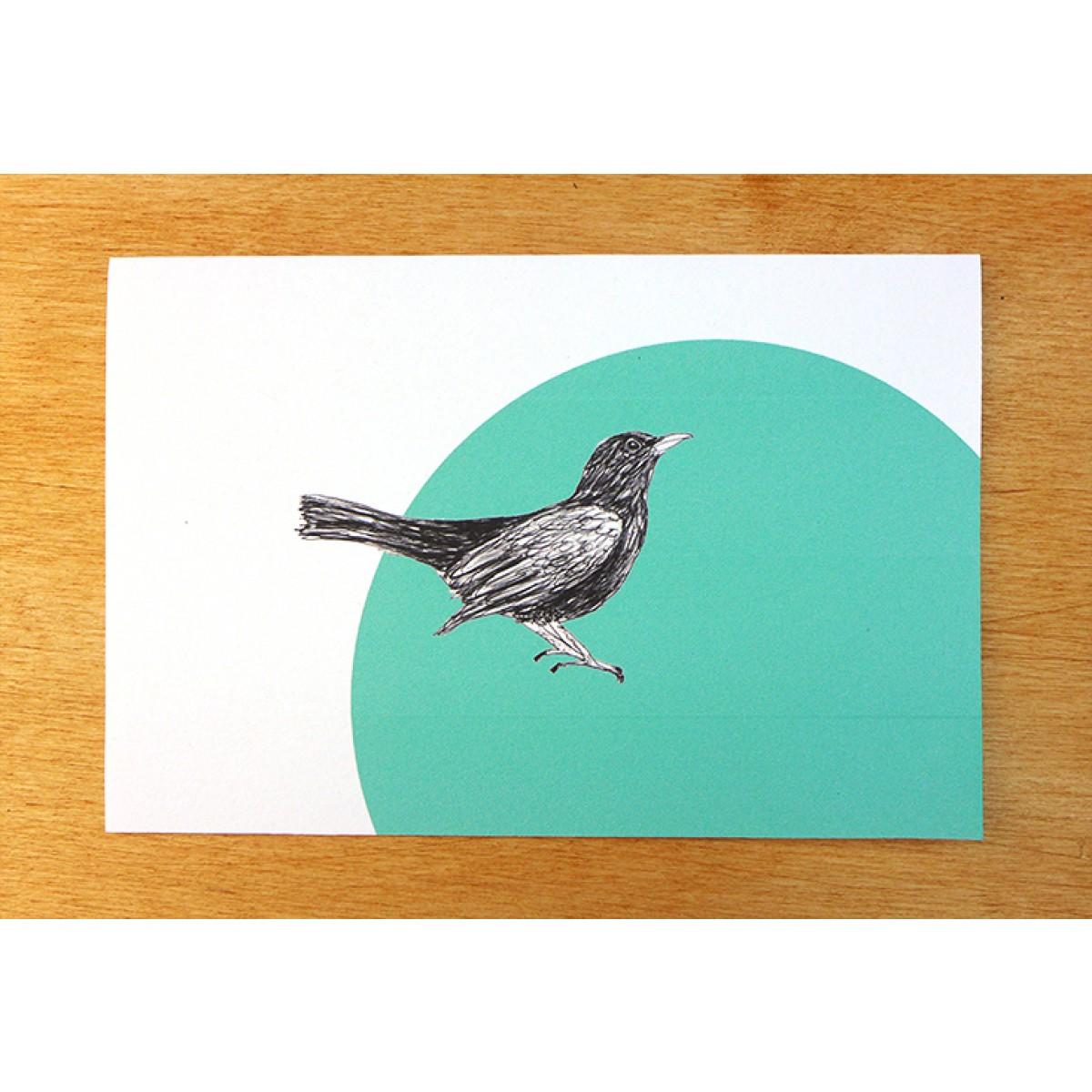 "playfulsolutions Postkarten ""Amsel"""