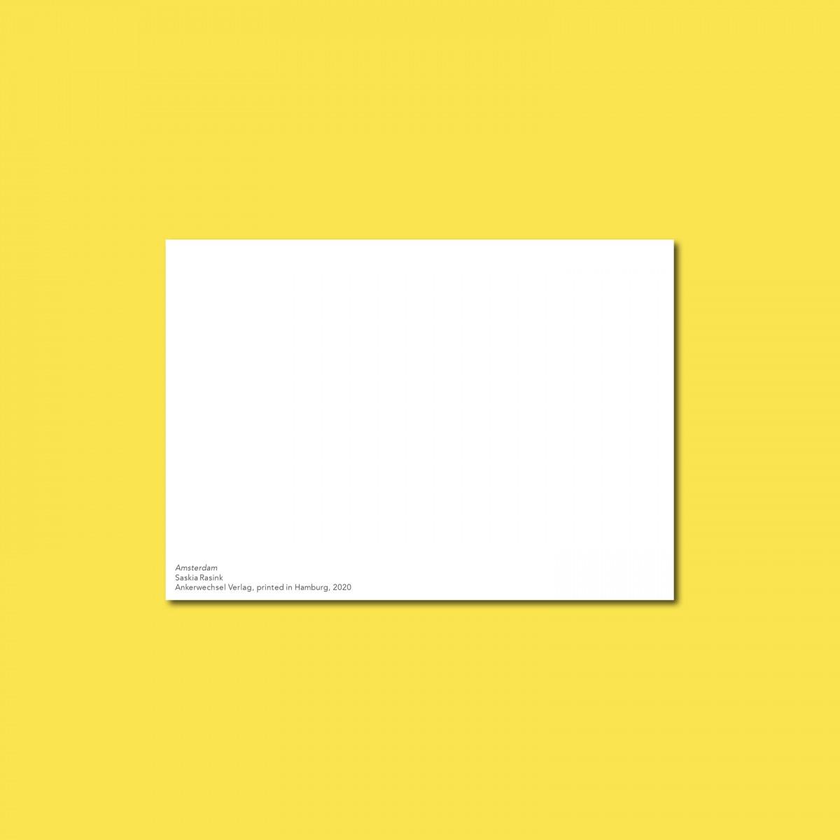 'Amsterdam' Postkarte, illustriert von Saskia Rasink, DIN A6, klimaneutral gedruckt / Ankerwechsel Verlag