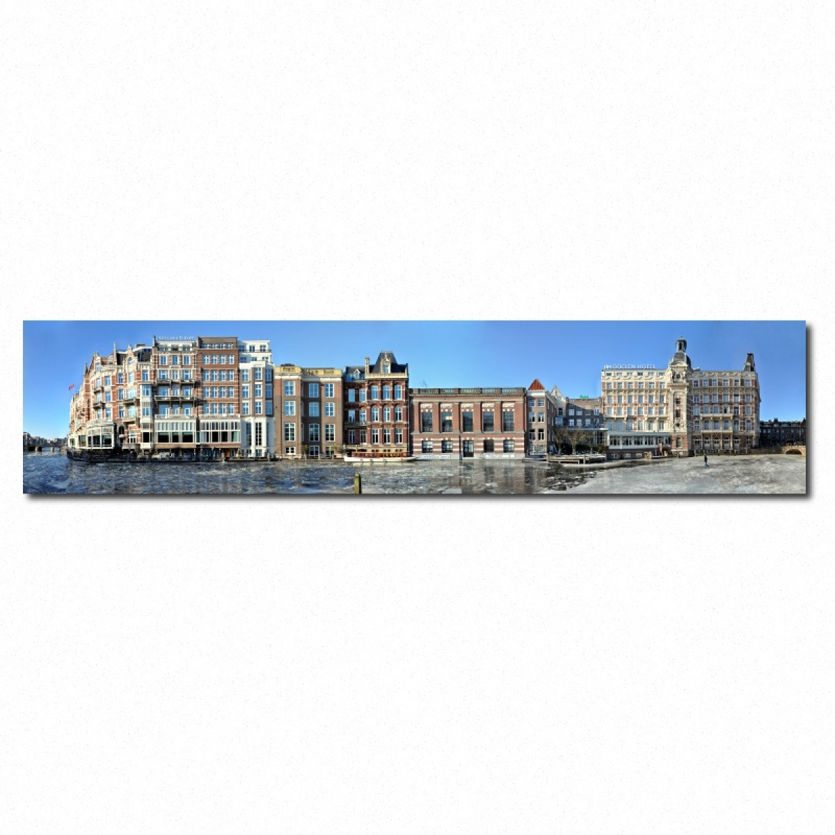 Amsterdam Streetline Panorama Gallery Print