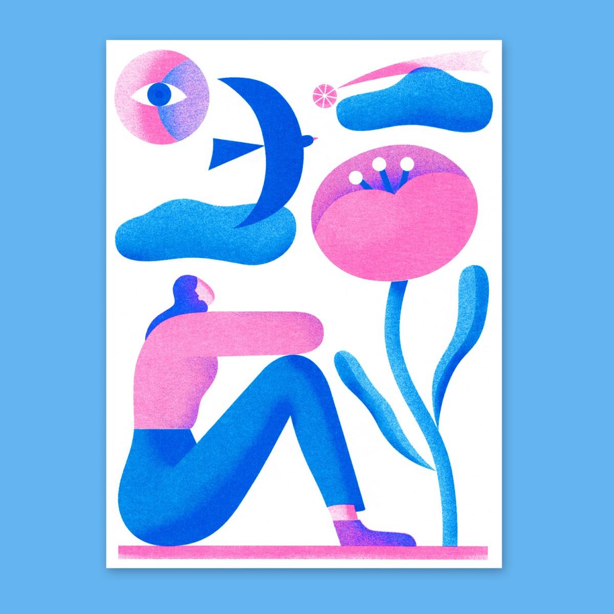 Anne Albert – Wishes – Riso-Druck (12,7 x 17 cm)