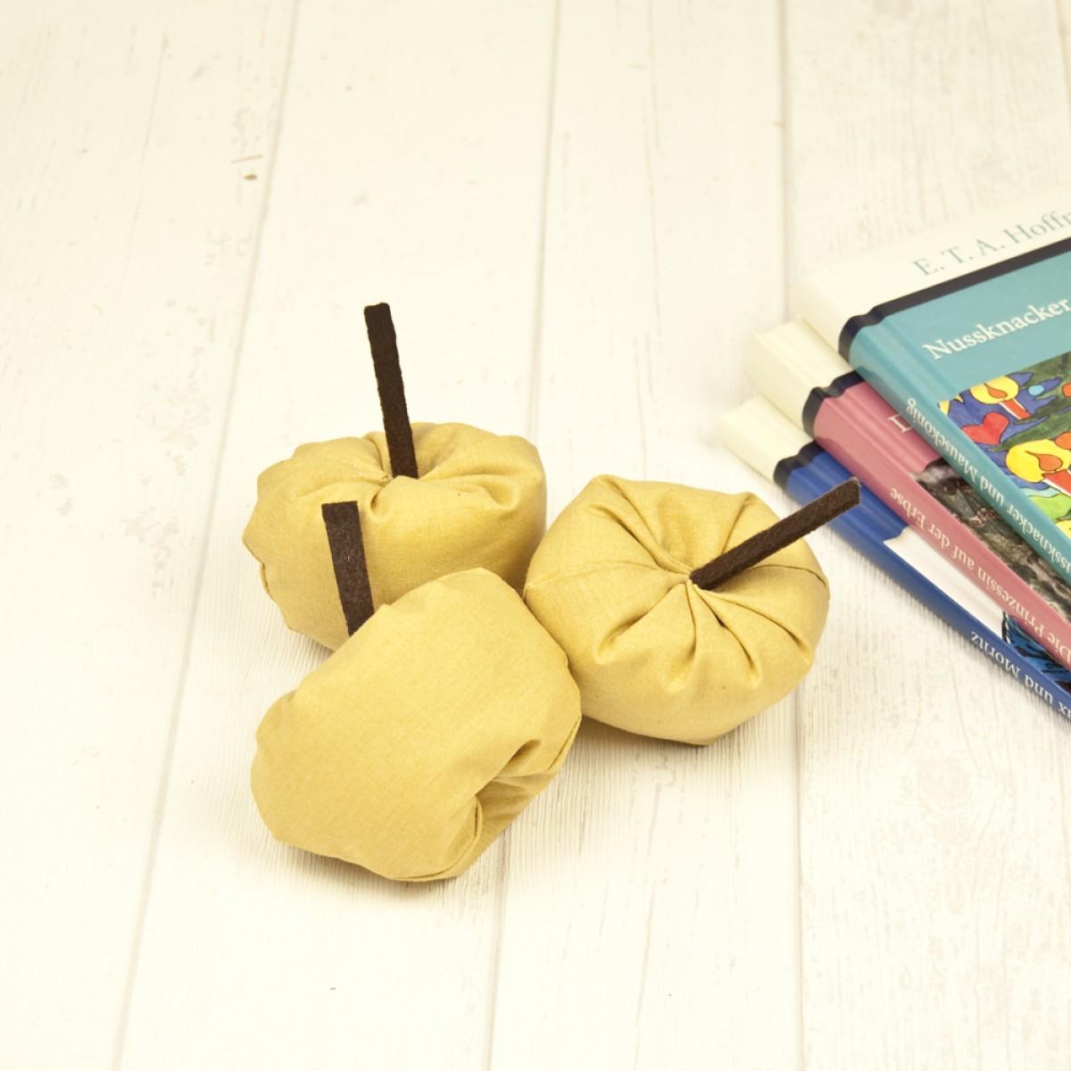 hasenkinder - Stoffapfel gelb 3er Set - Spielzeug & Deko