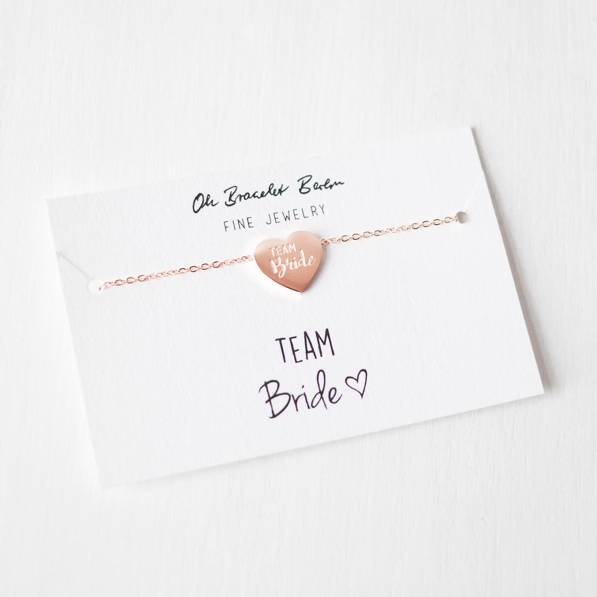 Team Bride Armband II aus Edelstahl, vergoldet