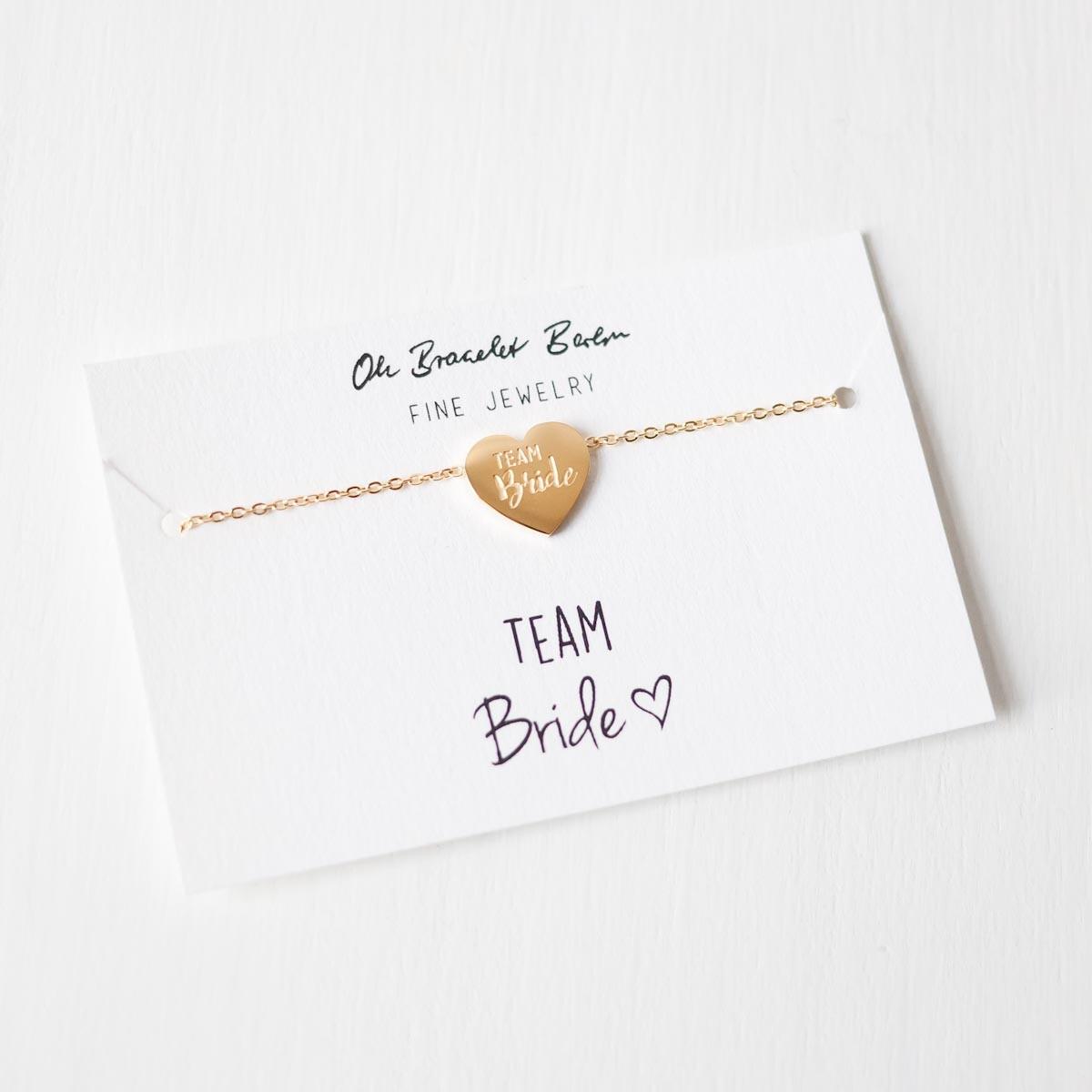 Oh Bracelet Berlin – Team Bride Armband II aus Edelstahl, vergoldet