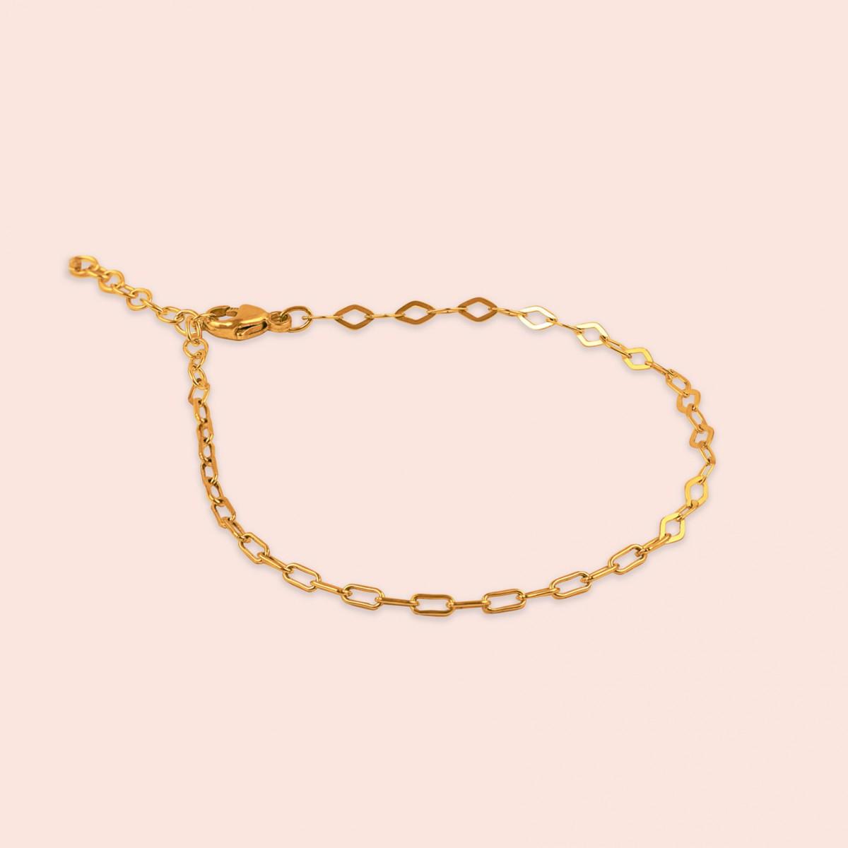 related by objects - just diamonds bracelet - 925 Sterlingsilber 18k goldplattiert