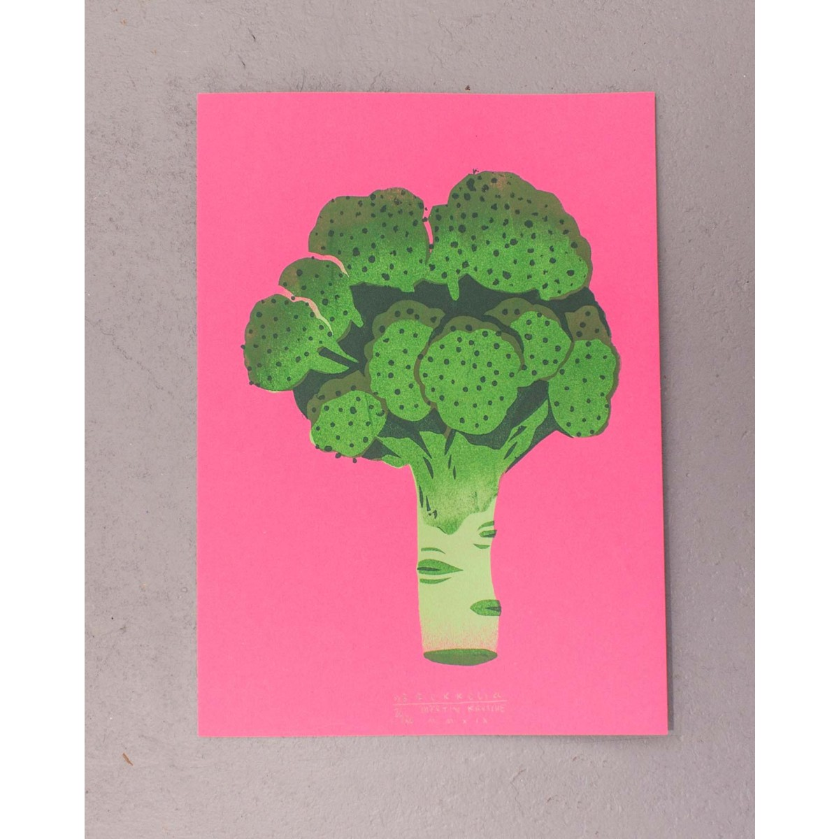 Artprint Stencil »Brokkoli« DINA4