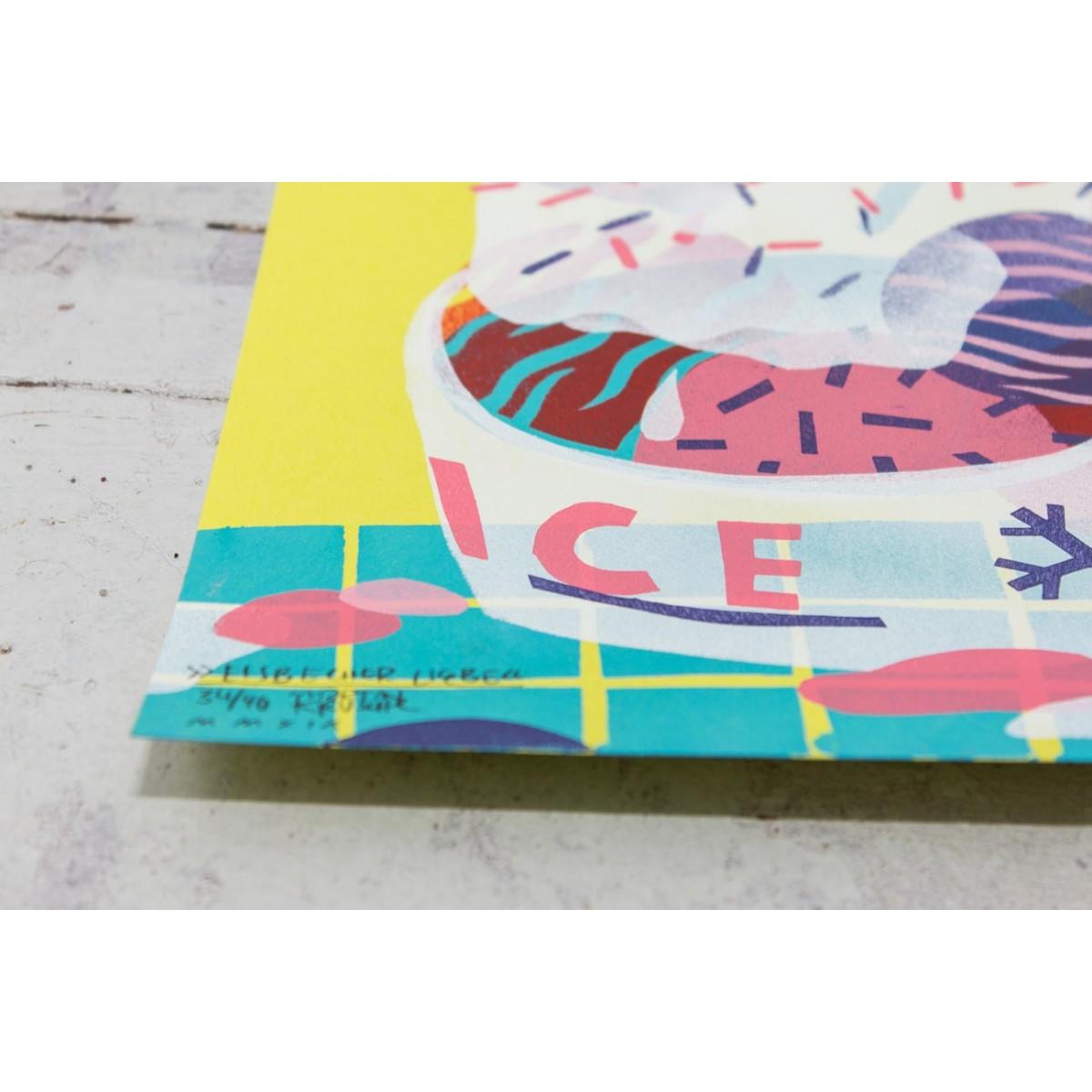 Stencil Artprint »Eisbecher Liebe« DINA4