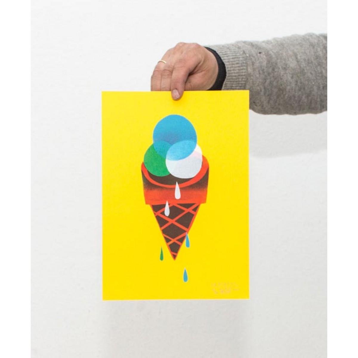 Martin Krusche – Stencil Artprint »Gelato« DINA4