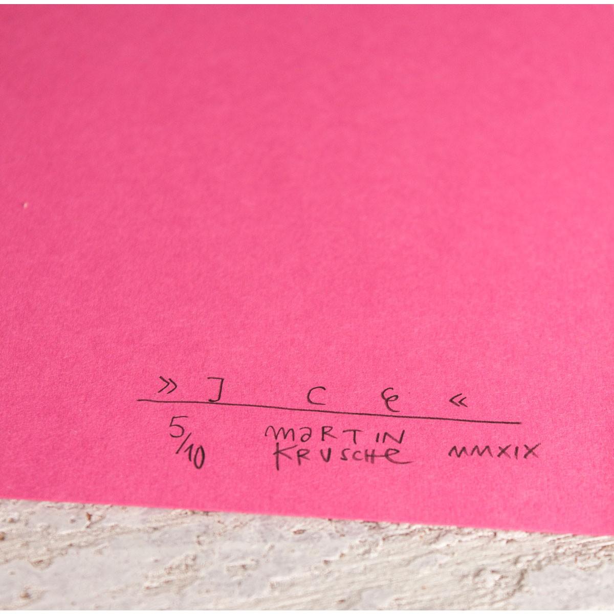 Stencil Artprint »Ice«, 50x70cm