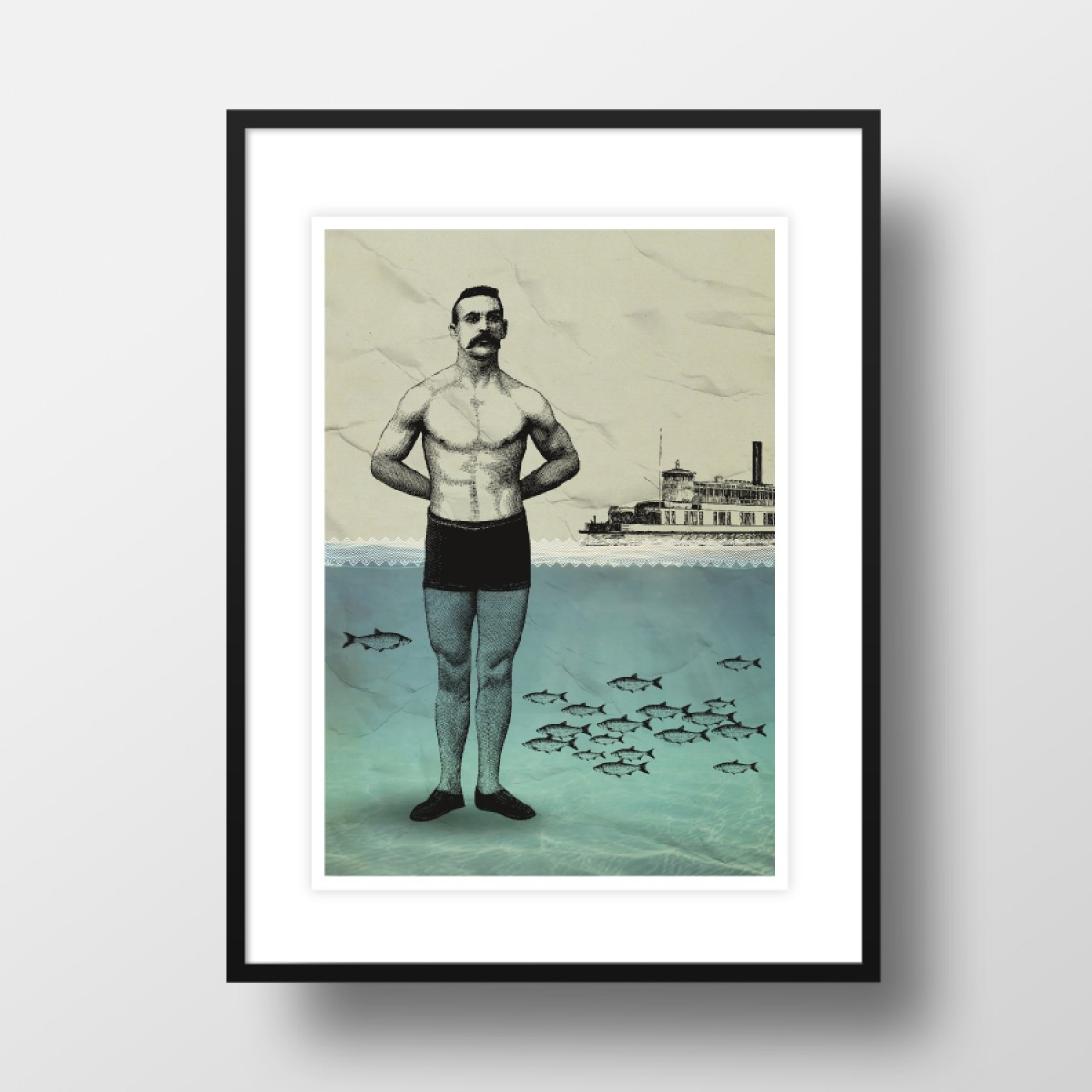 "A4 Artprint ""Beachboy"""