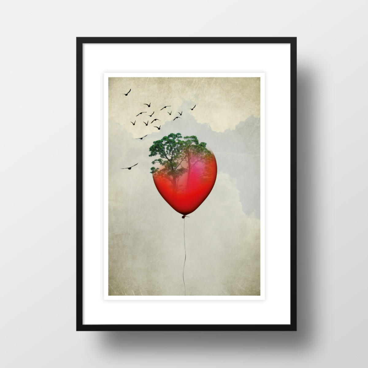 "Amy & Kurt Berlin A3 Artprint ""Red Balloon"""