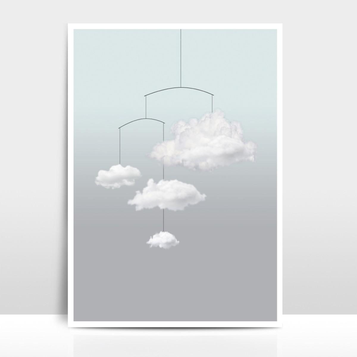 """A4 Artprint """"Wolkenmobile"""""""