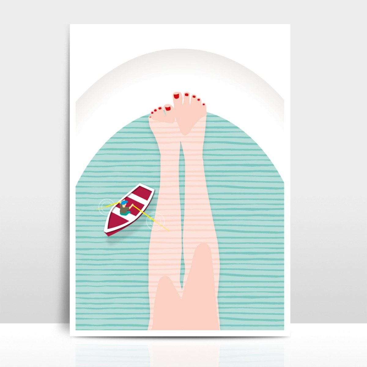 """Amy & Kurt Berlin A4 Artprint """"Badewanne"""""""