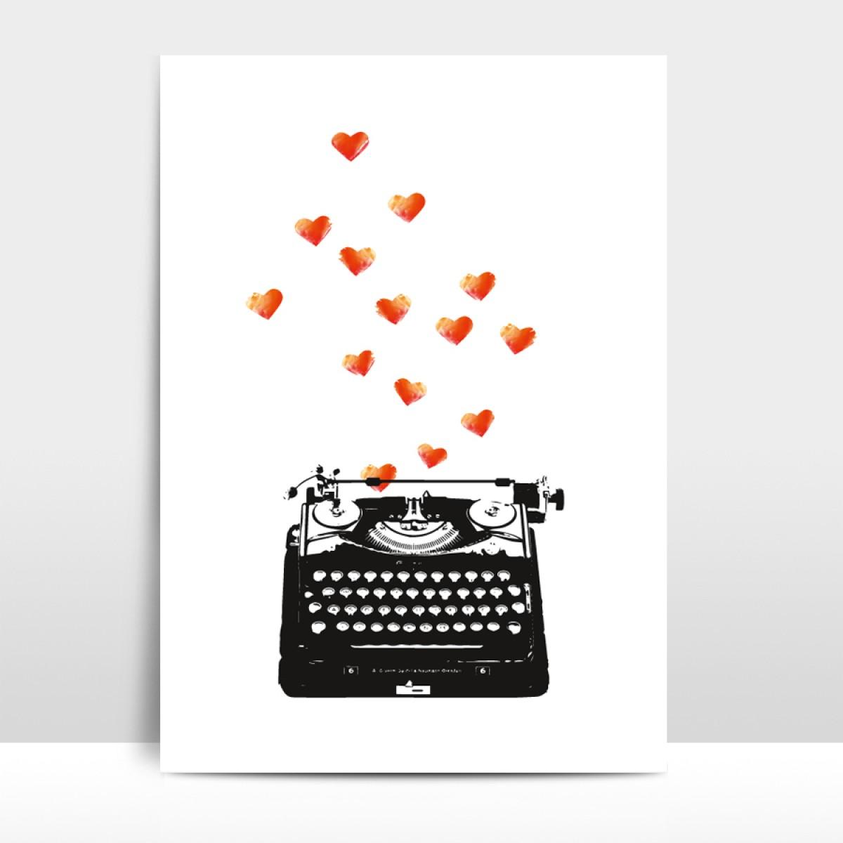 """Amy & Kurt Berlin A4 Artprint """"Loveletter"""""""