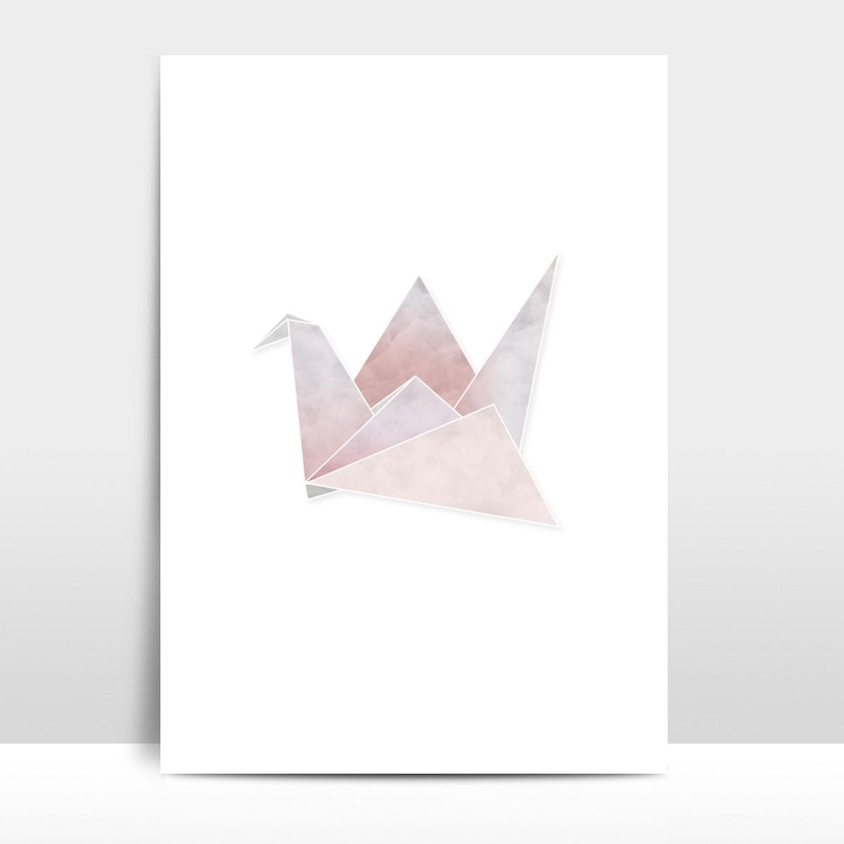 """Amy & Kurt Berlin A3 Artprint """"Origami Kranich"""""""