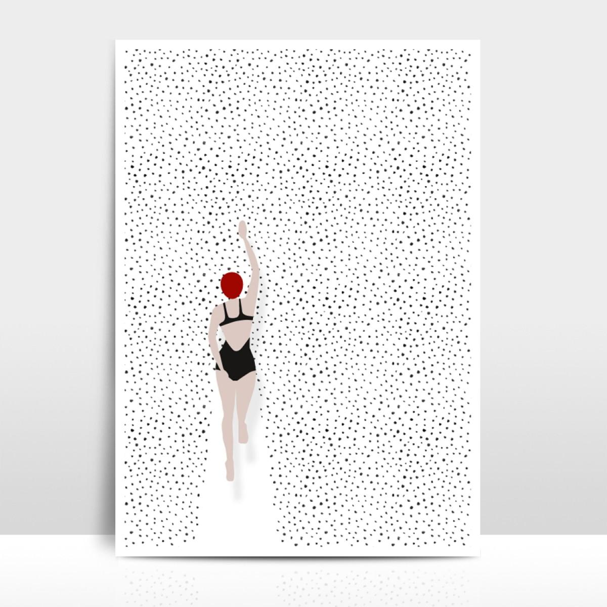 """Amy & Kurt Berlin A3 Artprint """"Punktschwimmer"""""""