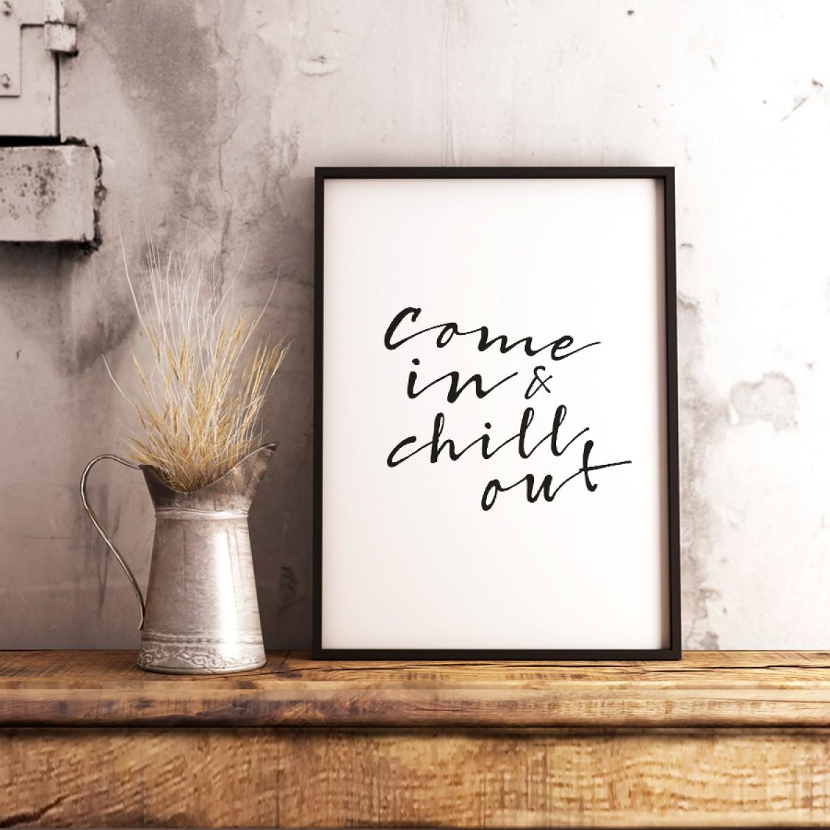 """Amy & Kurt Berlin A4 Artprint """"Chill out"""""""