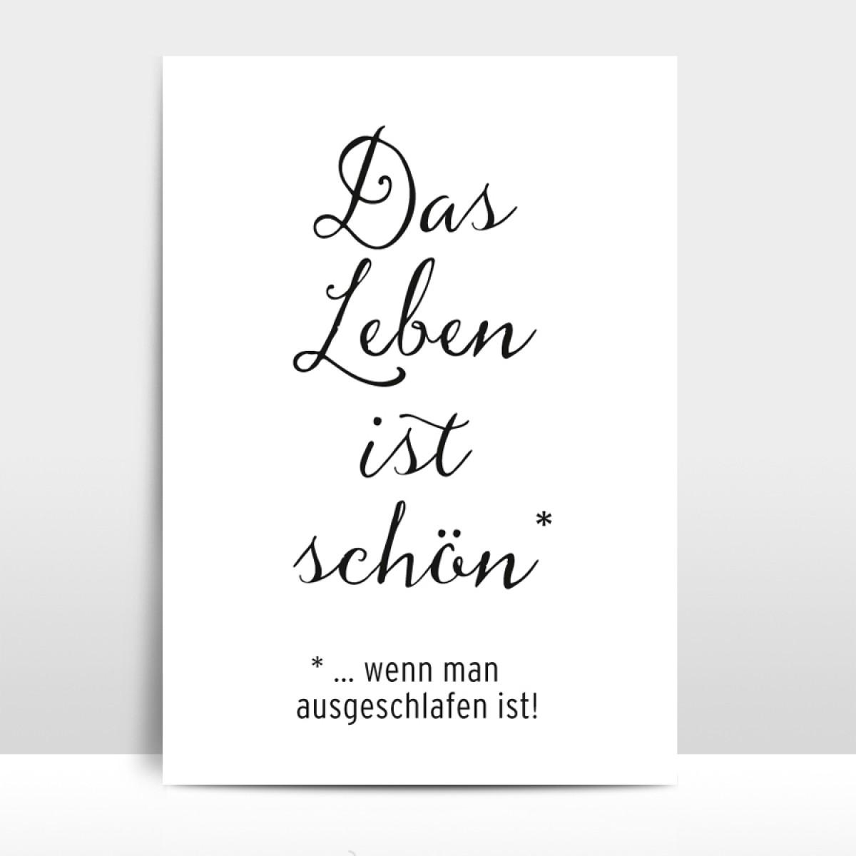 """A4 Artprint """"Das Leben ist schön"""""""
