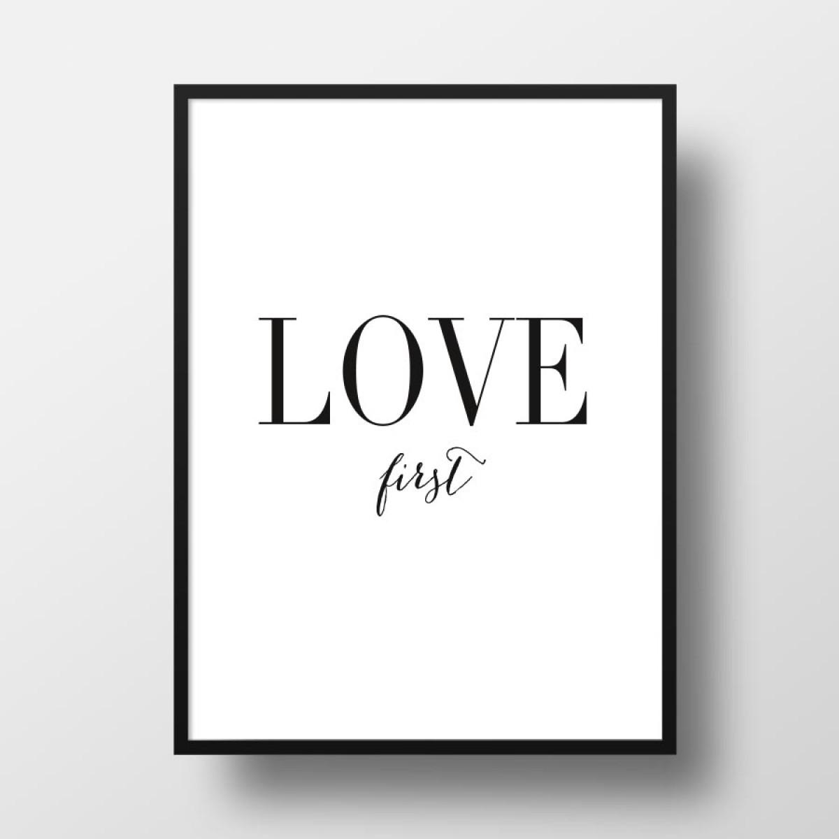 """Amy & Kurt Berlin A4 Artprint """"Love first"""""""