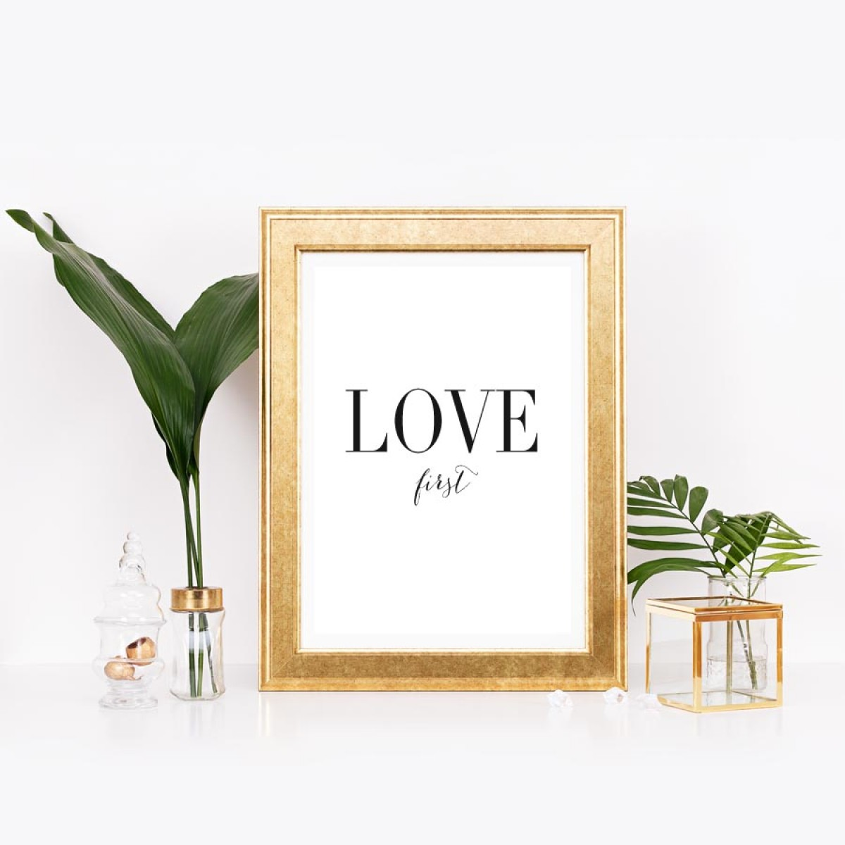 """Amy & Kurt Berlin A3 Artprint """"Love first"""""""