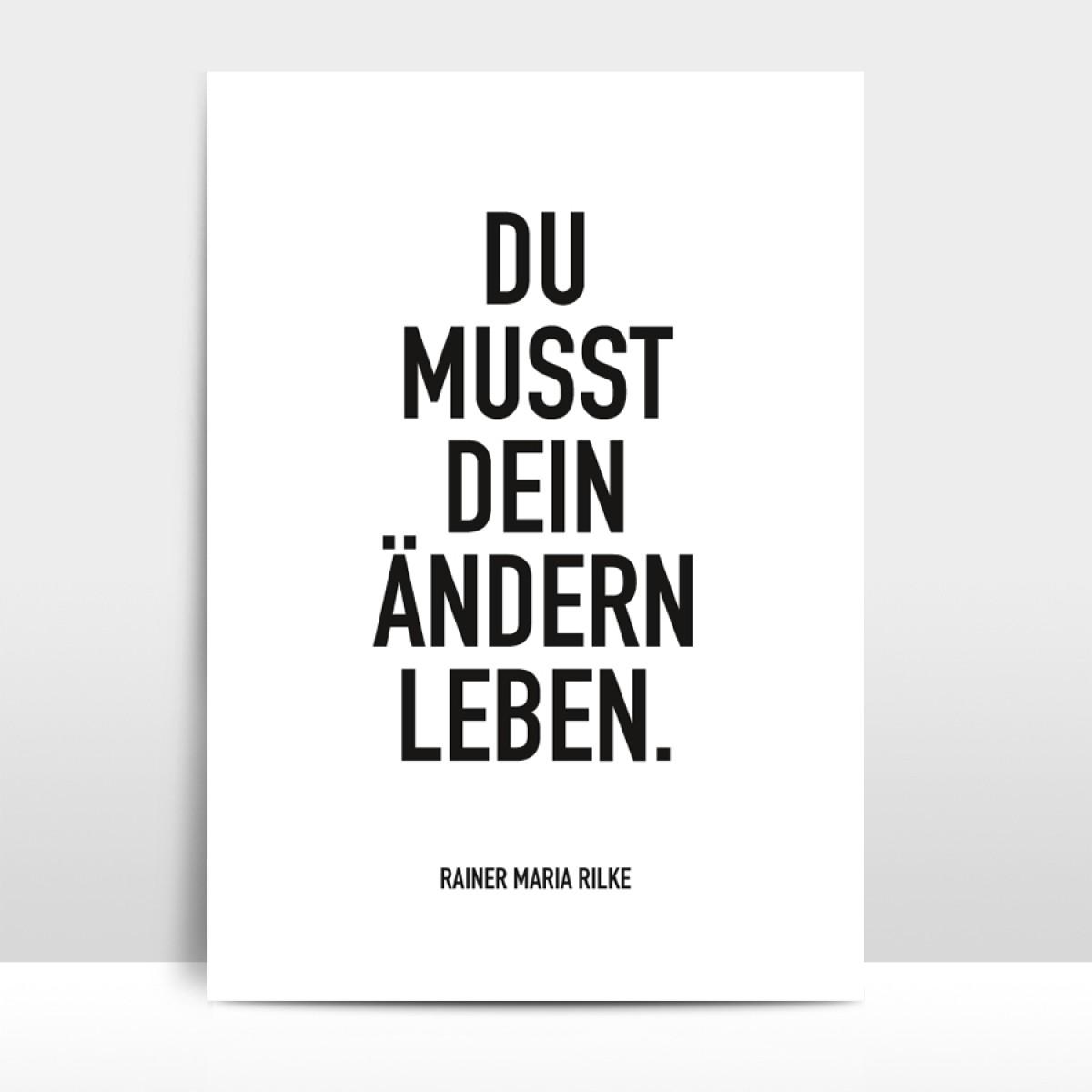 """Amy & Kurt Berlin A3 Artprint """"Ändern leben"""""""
