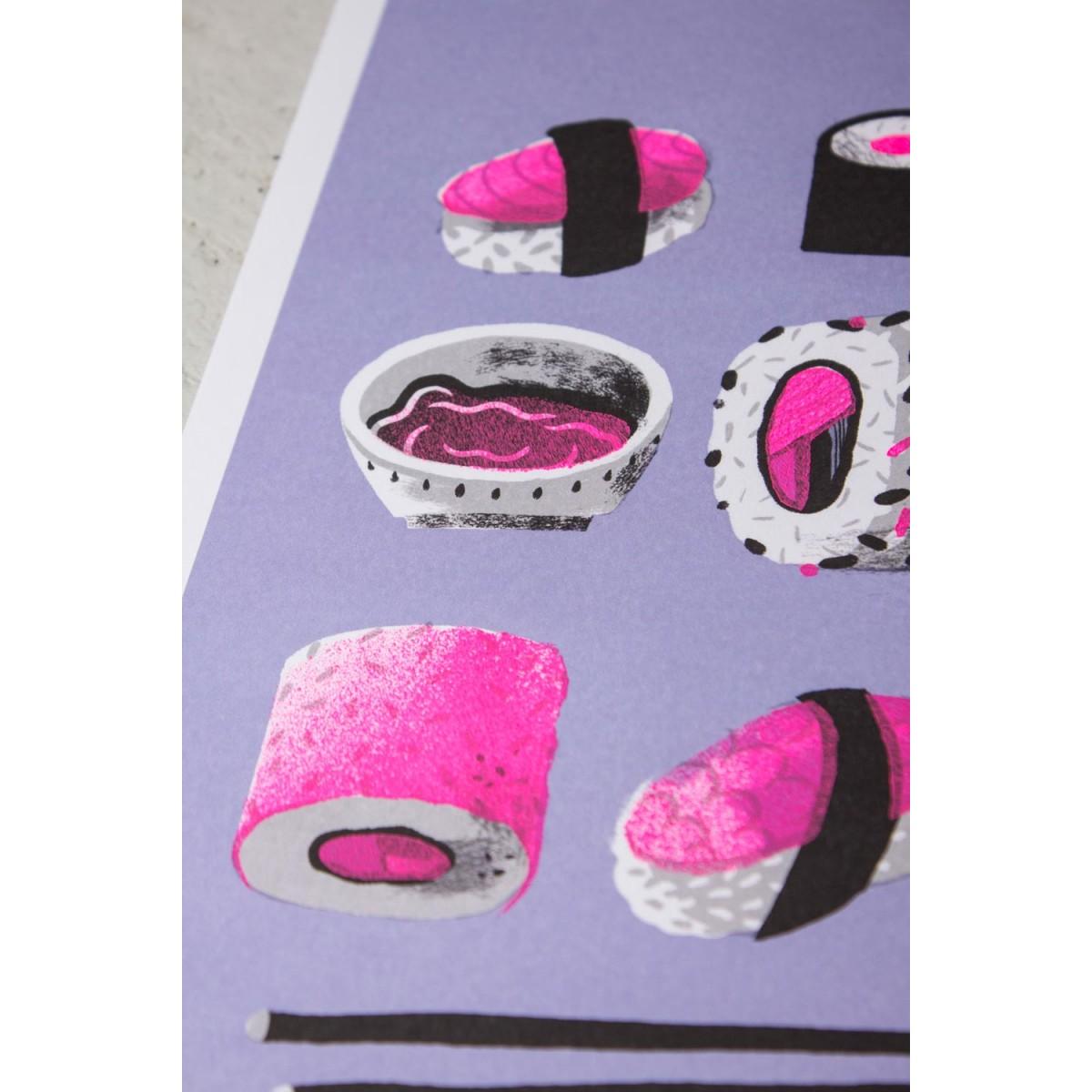 Stencil Artprint »Yummy« DIN A4