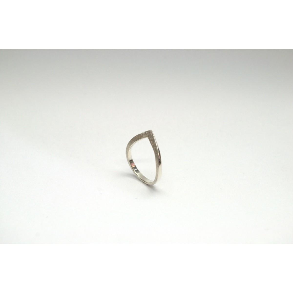 "DOPPELLUDWIG – Ring ""AUFGESTELLT"" aus 925/- Silber"