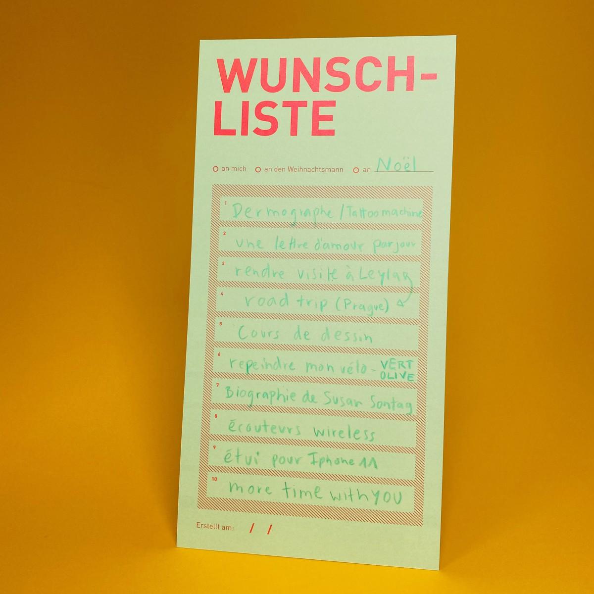 WUNSCHLISTE / Karte / 10er-Set