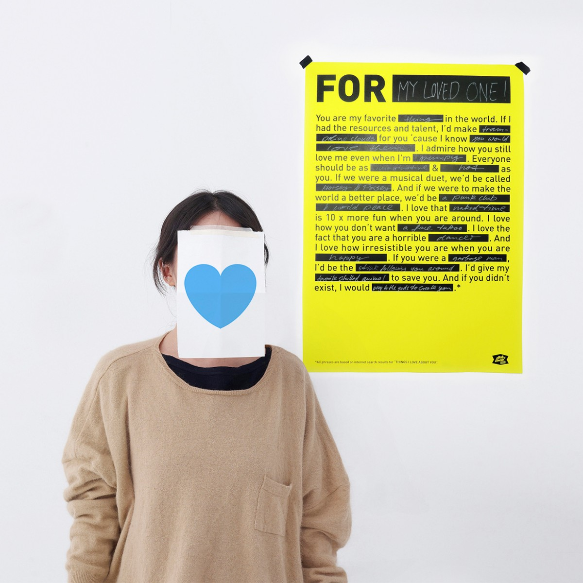 LOVE NOTE / Poster / 420 x 594 mm / Neongelb