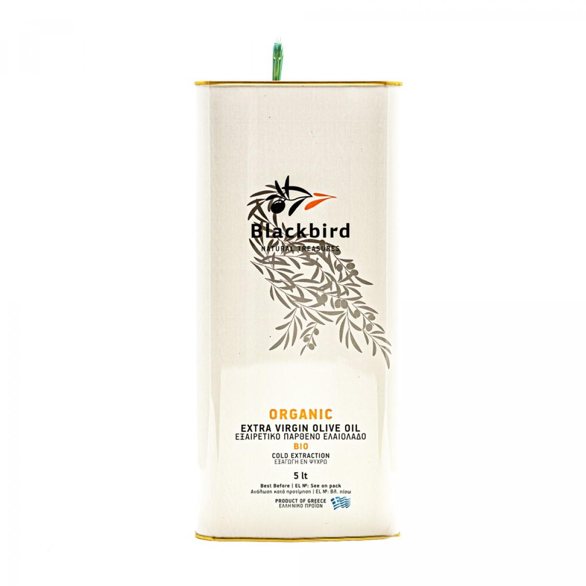 BLACKBIRD Olivenöl Extra Nativ BIO - 5 ltr. Vorratskanister
